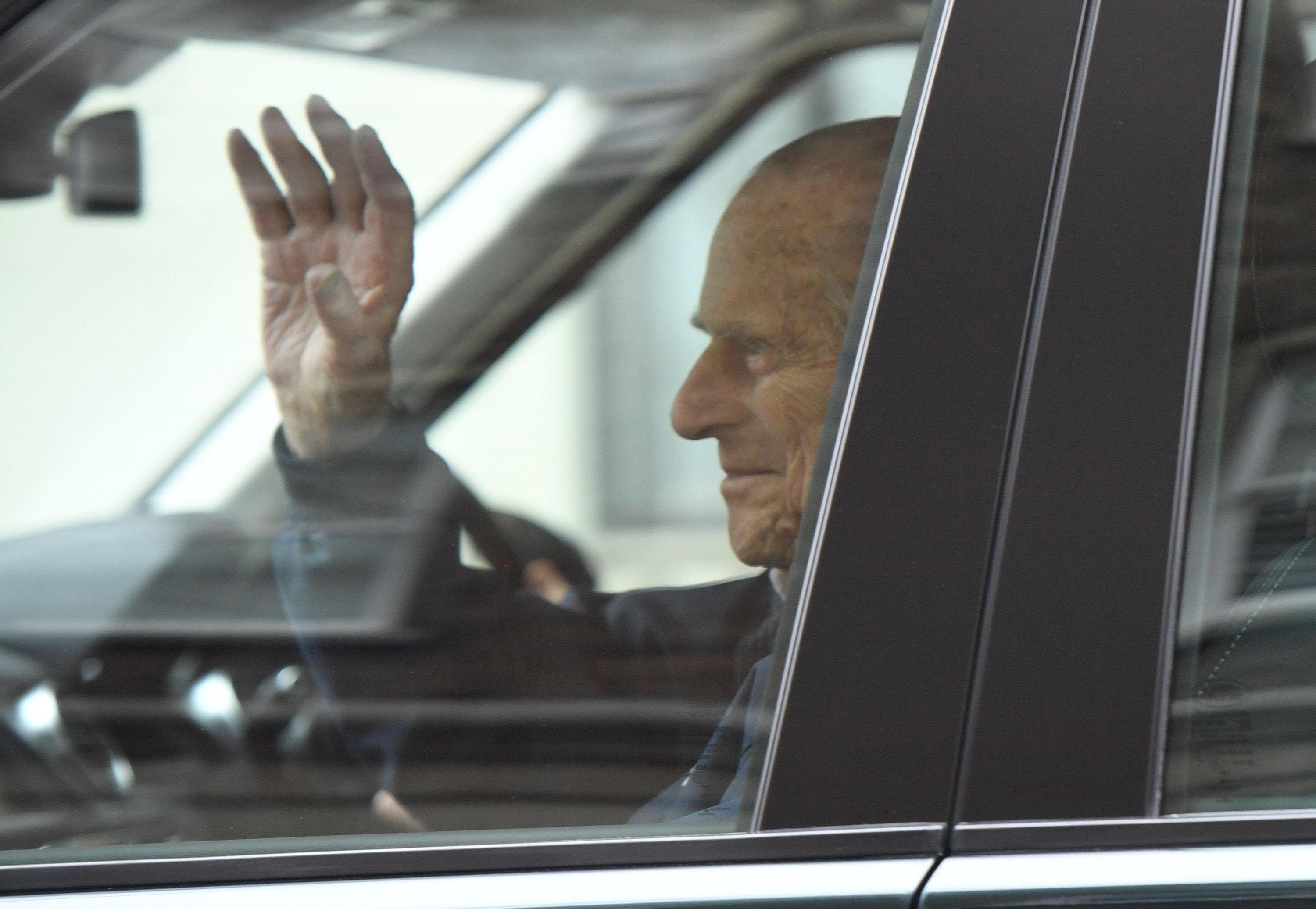 The Duke of Edinburgh leaving the King Edward VII Hospital in London after recovering from a planned surgery last Wednesday to replace his joint with a prosthetic implant (PA)