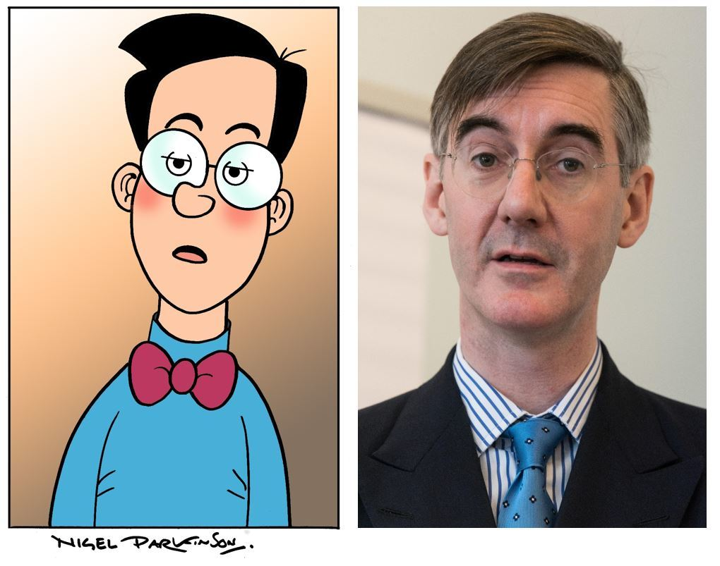Walter the Softy and Jacob Rees-Mogg (DC Thomson)