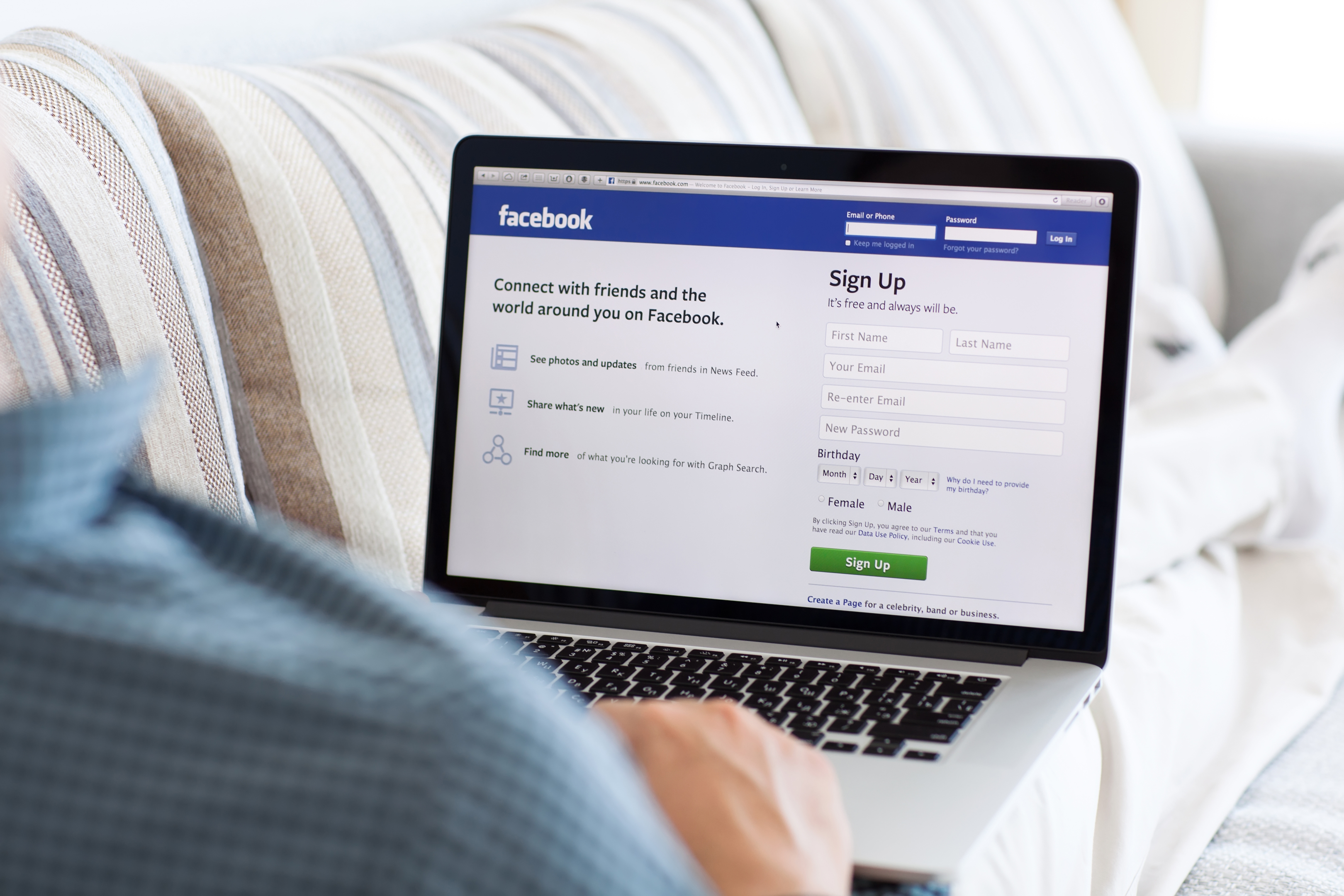 Facebook was the most popular social media platform among the over 65s (Getty Images/iStock)