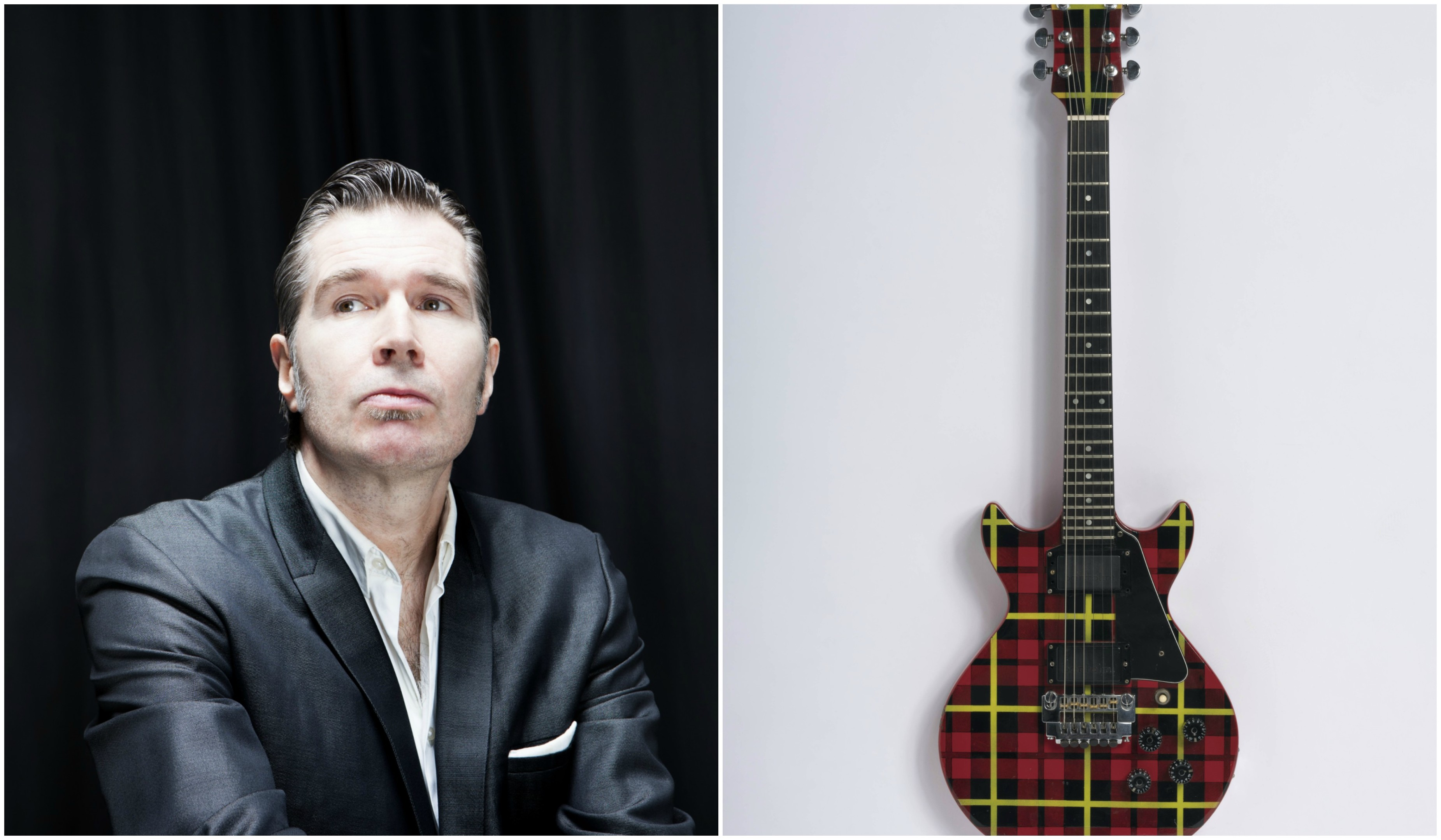 Del Amitri's Justin Currie and the guitar
