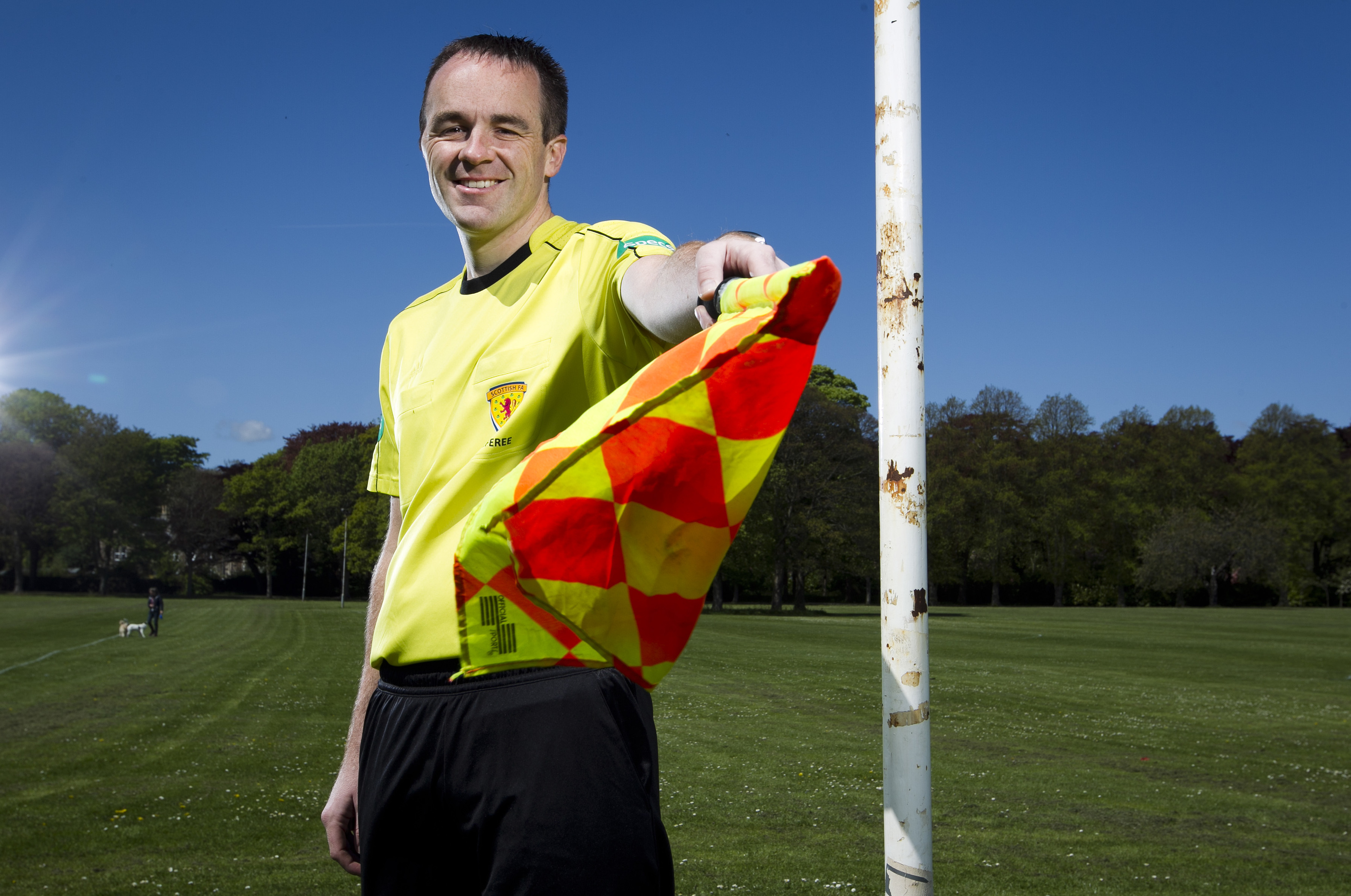 Dougie Potter combines his 30 games a year with his job as a policeman (Andrew Cawley / DC Thomson)