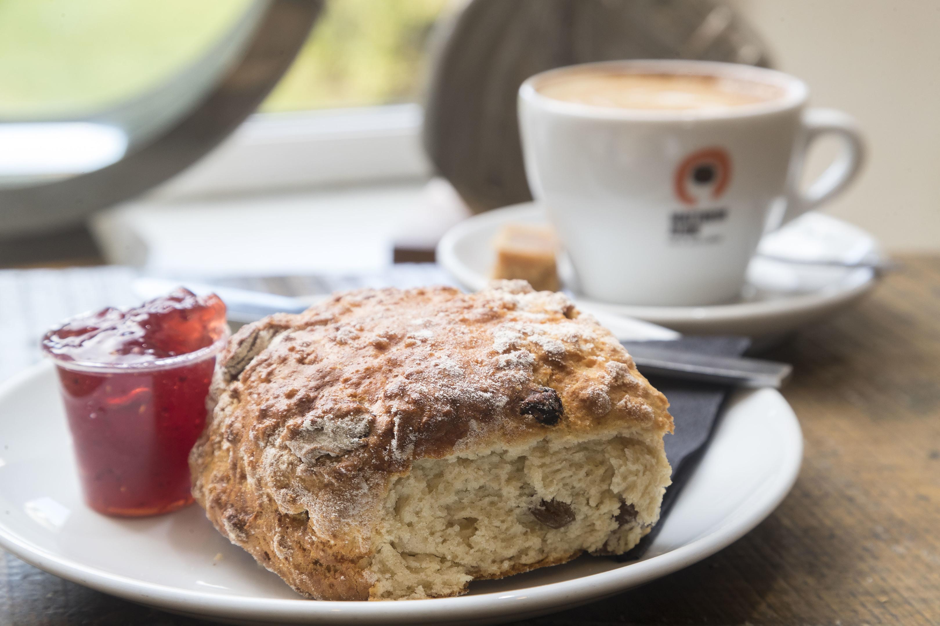 Café Cognito's delicious scone (Derek Ironside / Newsline Media)