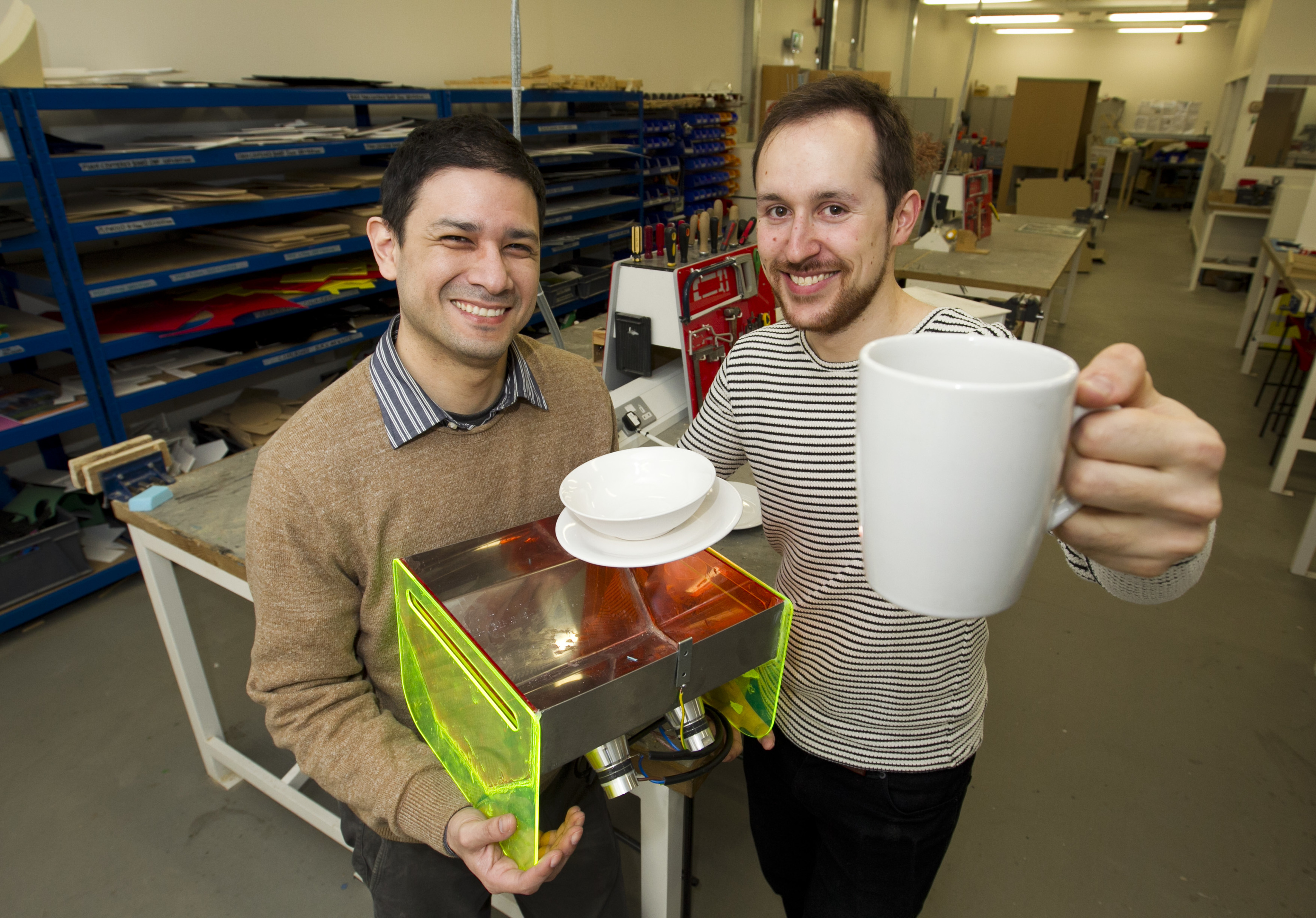 Francisco Carreno and Pierre Guglielmi with their creation (Andrew Cawley / DC Thomson)