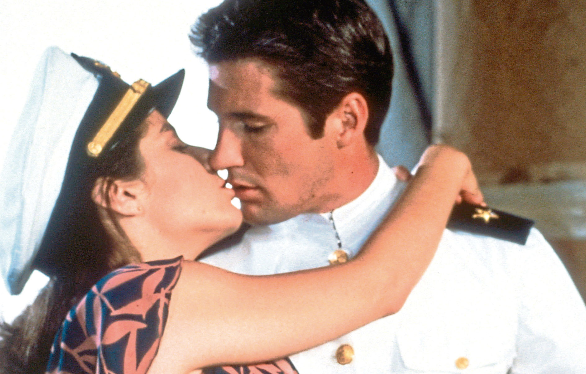 Richard Gere and Debra Winger in An Officer And A Gentleman