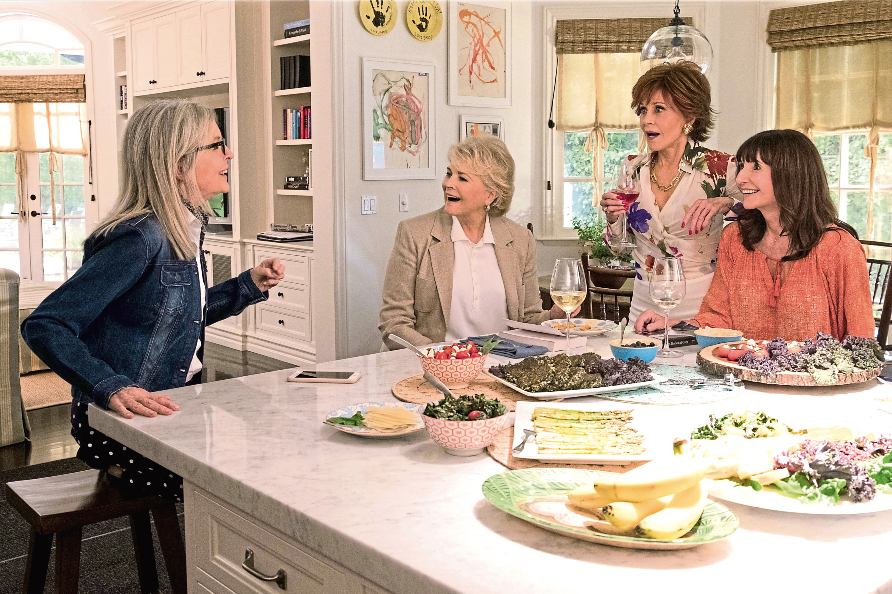(L-R) Diane Keaton, Candice Bergen, Jane Fonda, Mary Steenburgen in new film Book Club (Paramount Pictures)