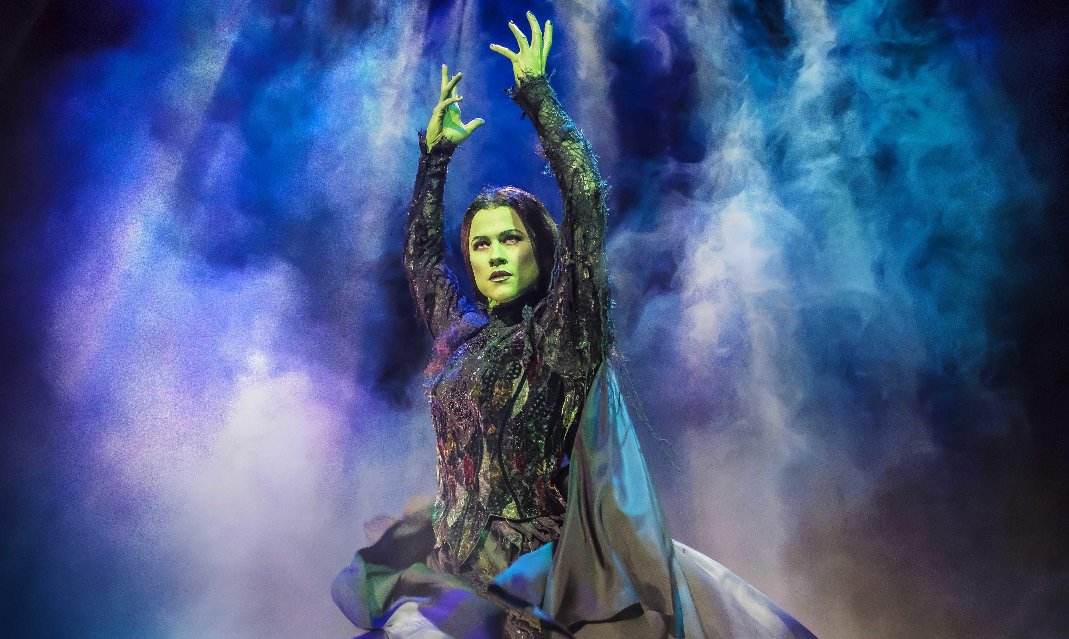 Amy Ross as Elphaba in Wicked