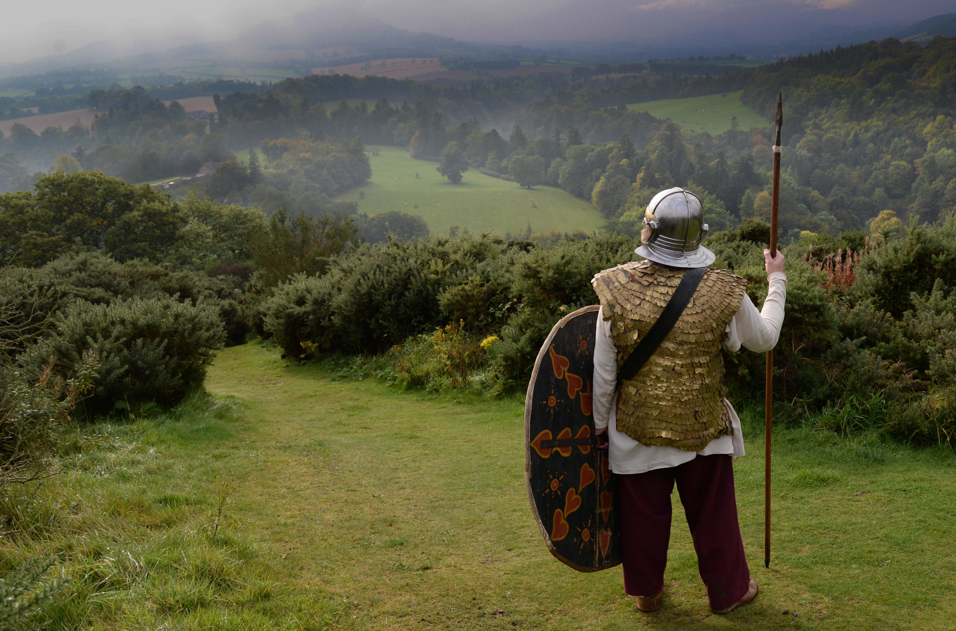 How one of emperor Septimius Severus's troops guarding the Roman fort at Trimontium in the Borders would have appeared (James Gibson / Alamy)