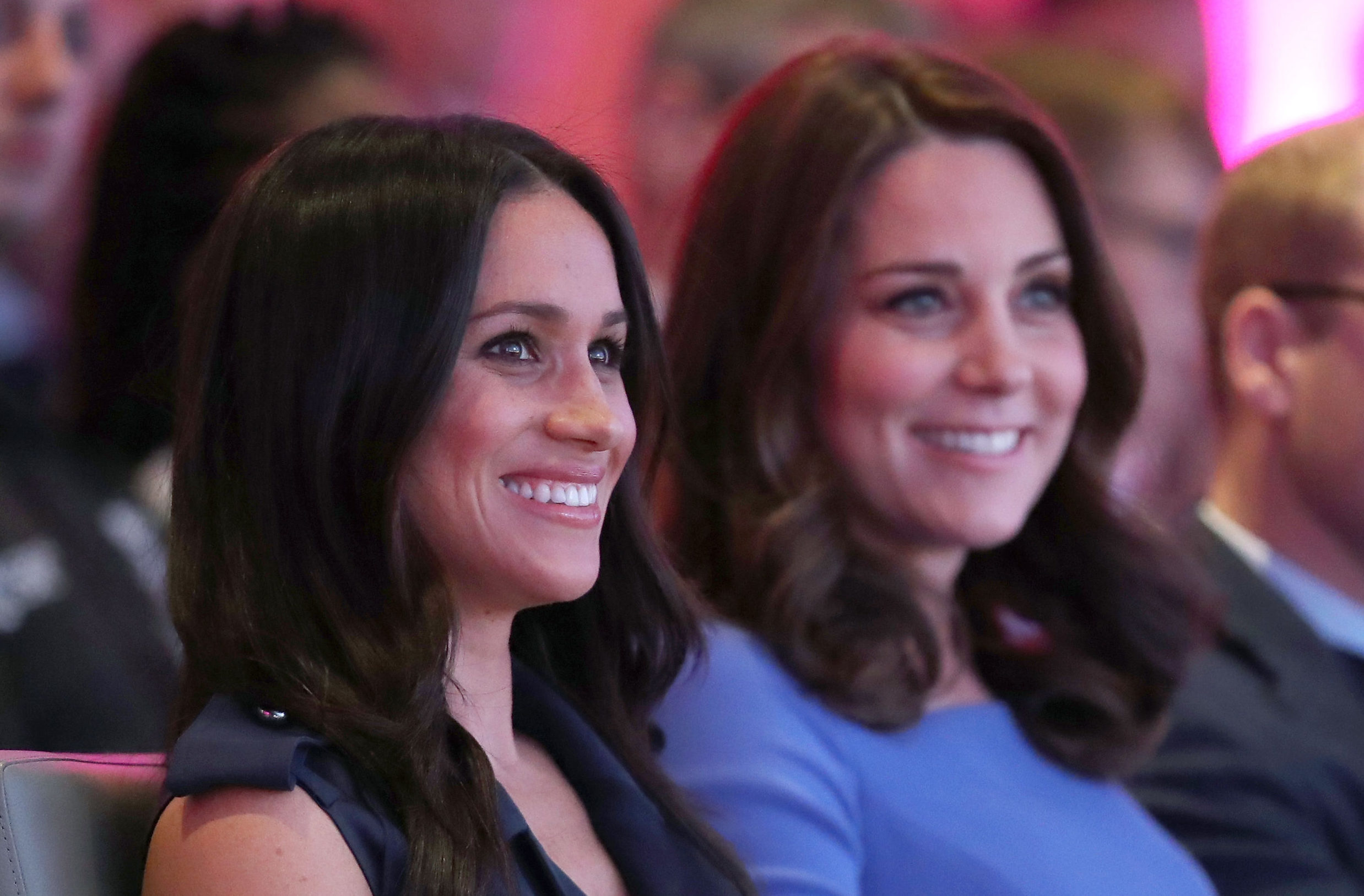 Meghan Markle and the Duchess of Cambridge (PA)