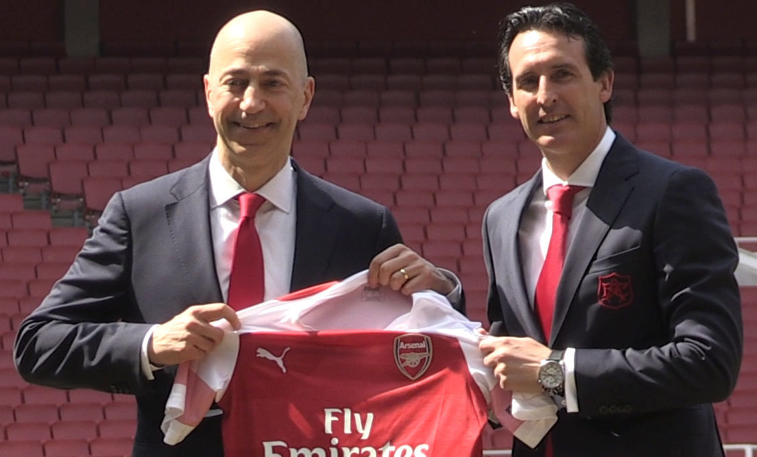 New Arsenal manager Unai Emery (right) with chief executive Ivan Gazidis (PA Wire)