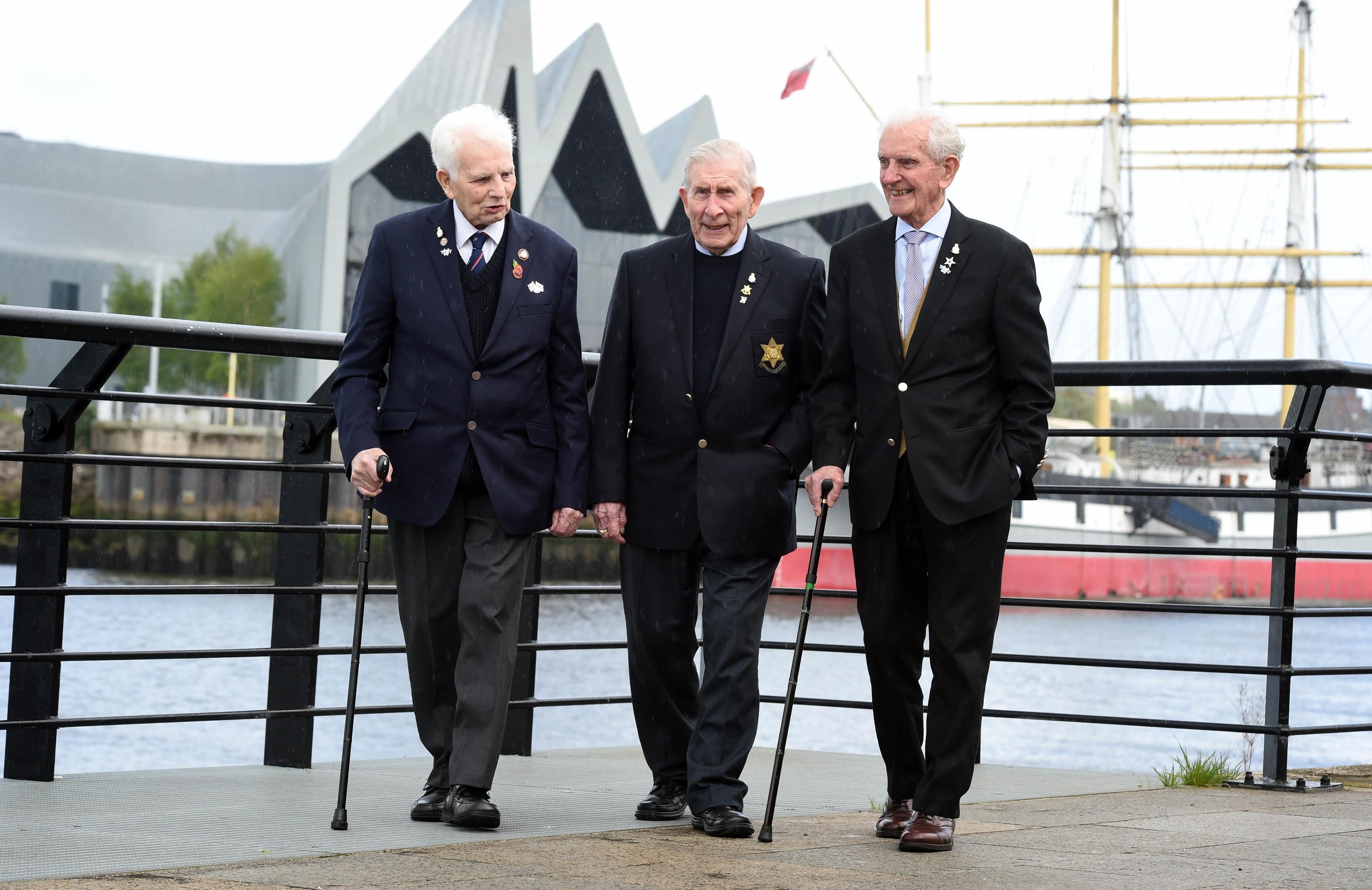 The three veterans in Glasgow (Poppyscotland 2018)
