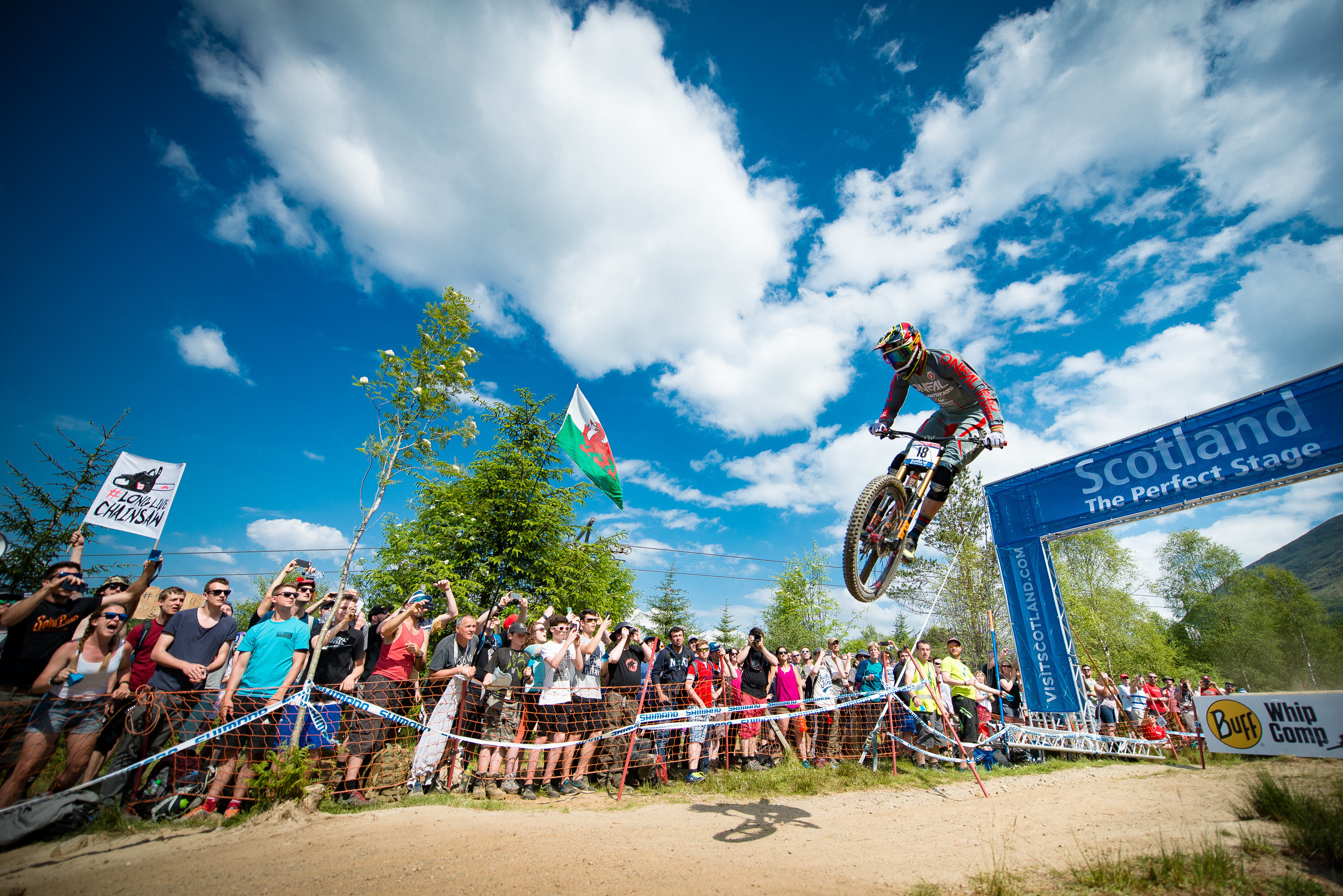 Riders completing in the 2017 event (Mountain Bike World Cup/PA Wire)