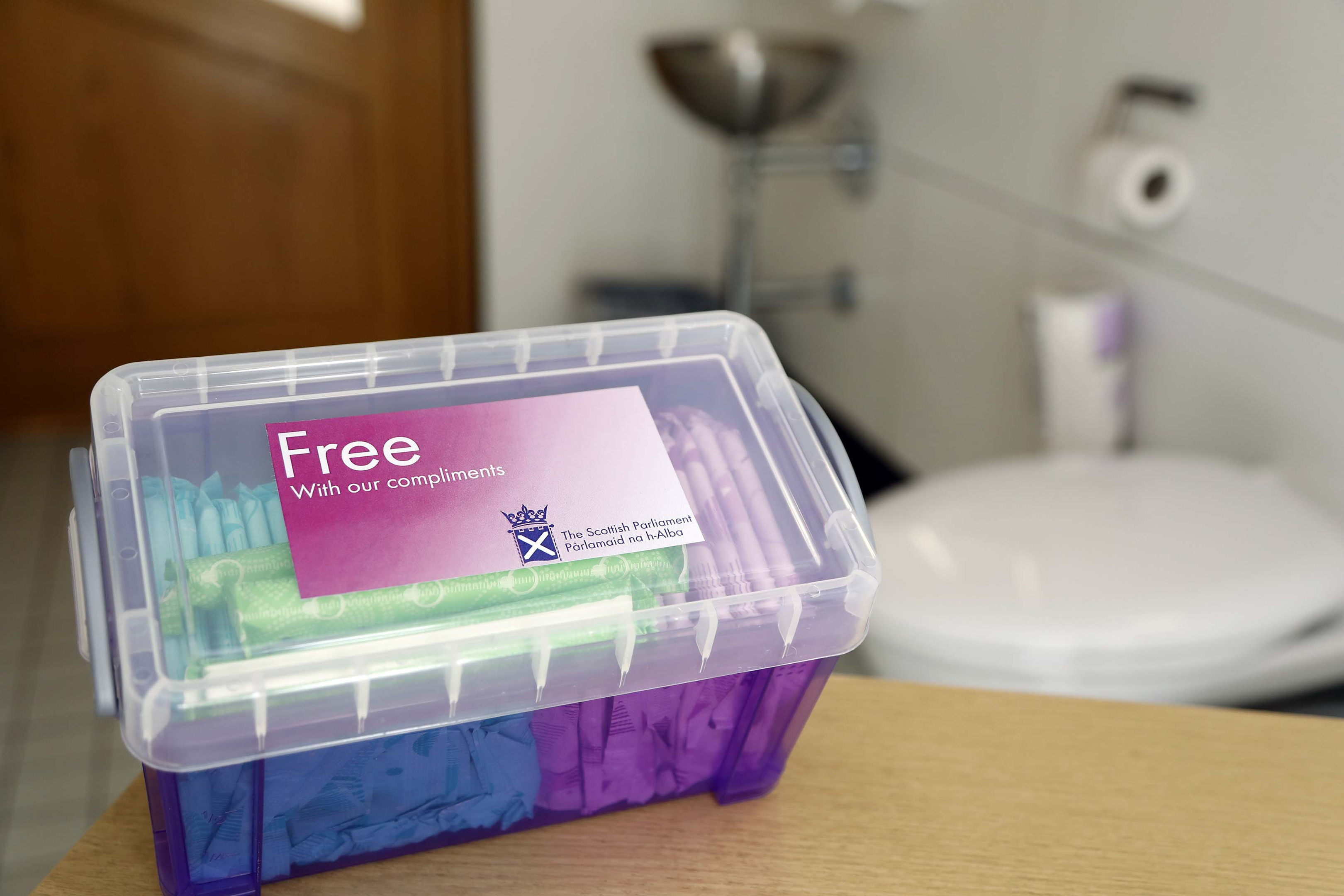Free sanitary products at Holyrood