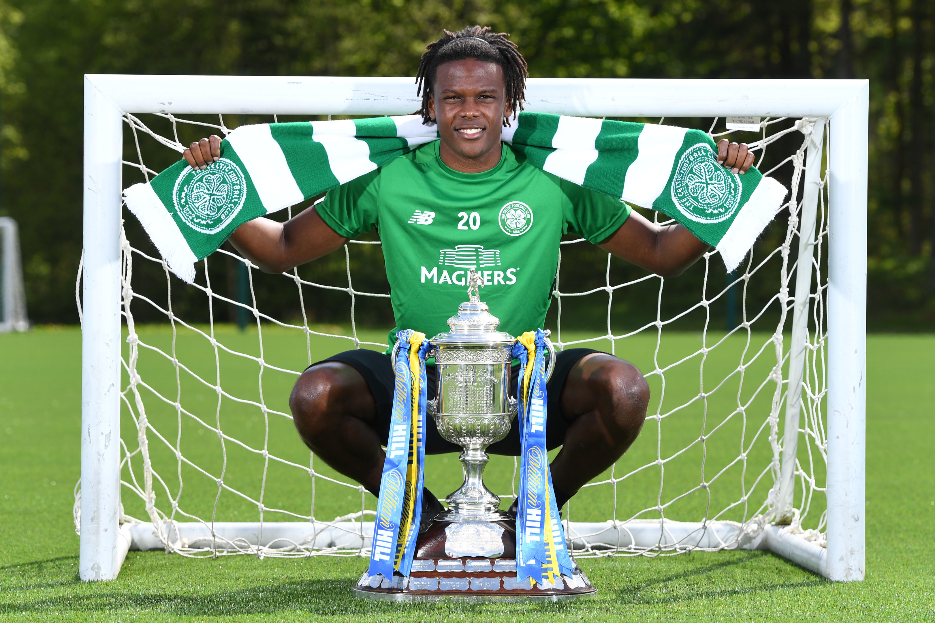 Dedryck Boyata with the William Hill Scottish Cup (SNS Group / Craig Williamson)