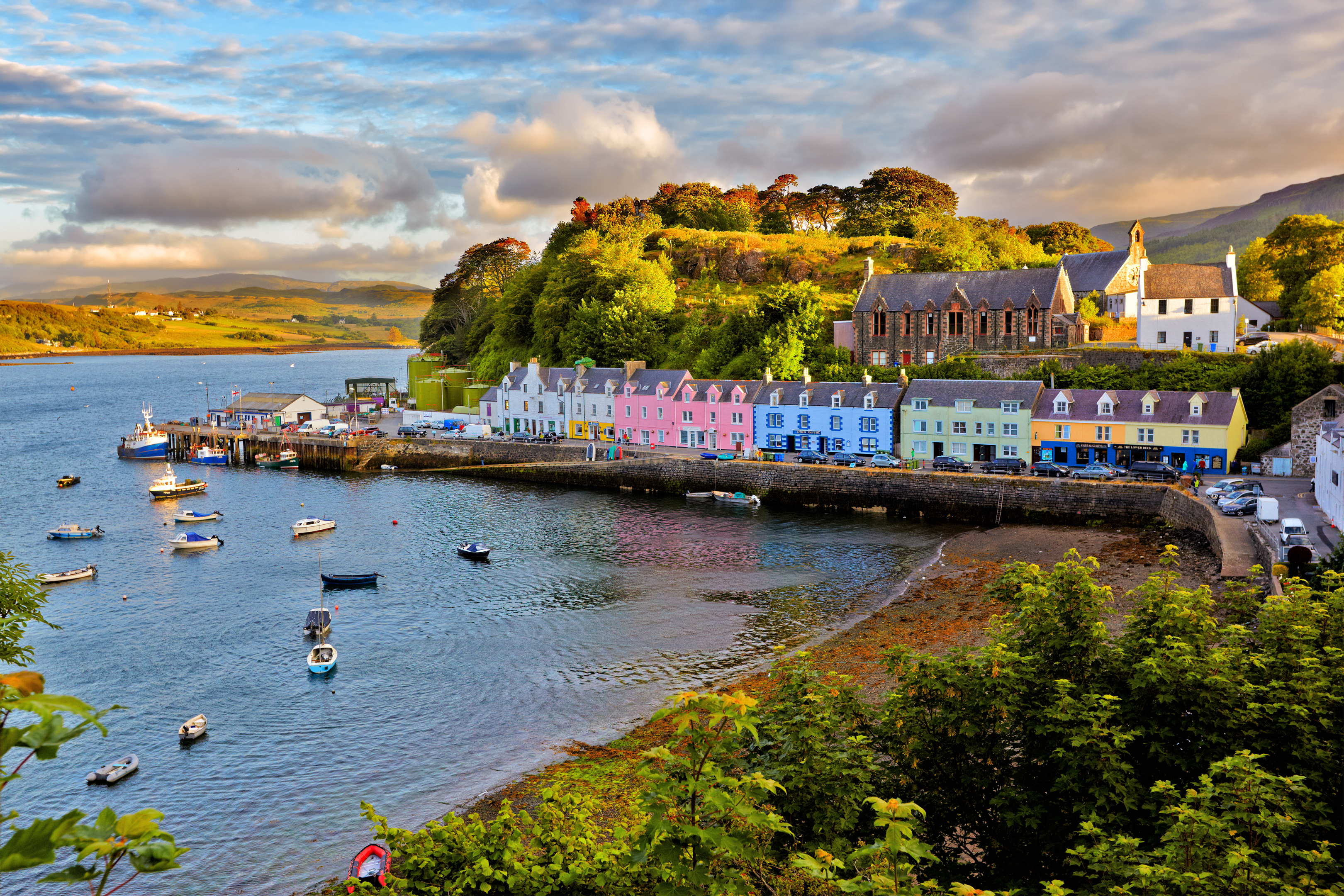 Portree before sunset, Isle of Skye (Getty Images)