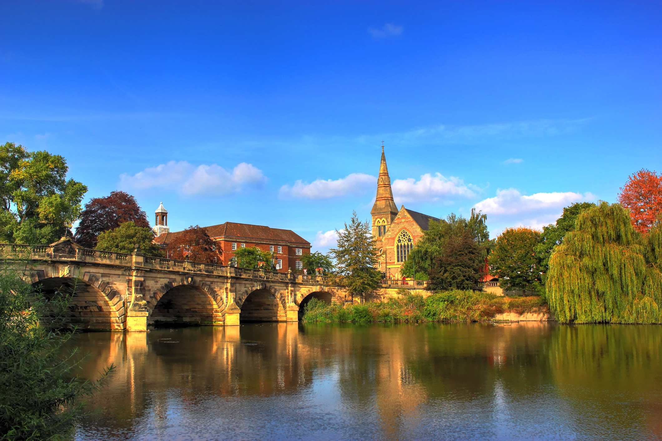 Bridge over the river Severn in Shrewsbury