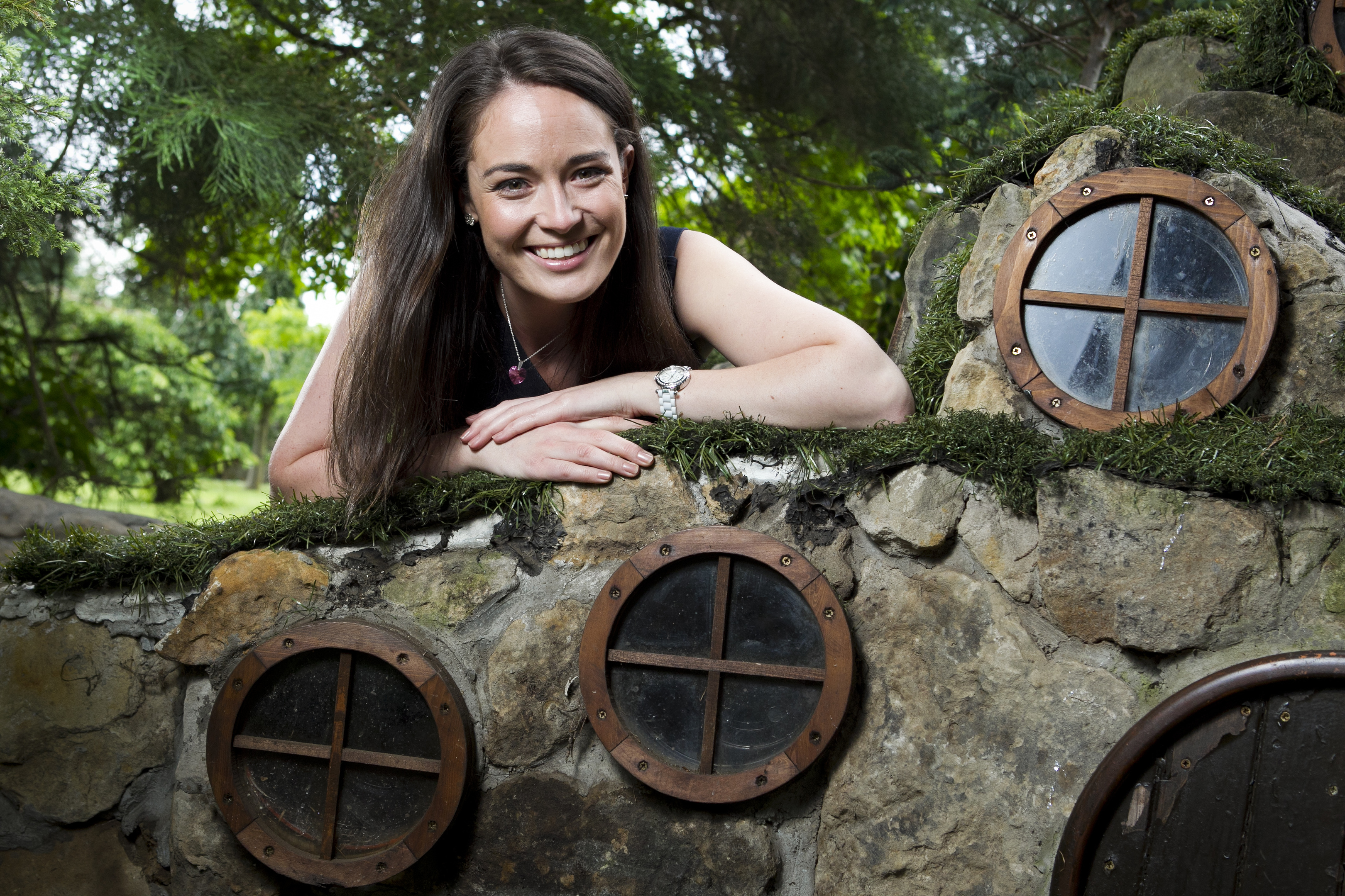 Jennifer Reoch, at one of her favourite hidden gem places in Scotland, The Secret Fairy Garden at Pollok House (Andrew Cawley / DC Thomson)