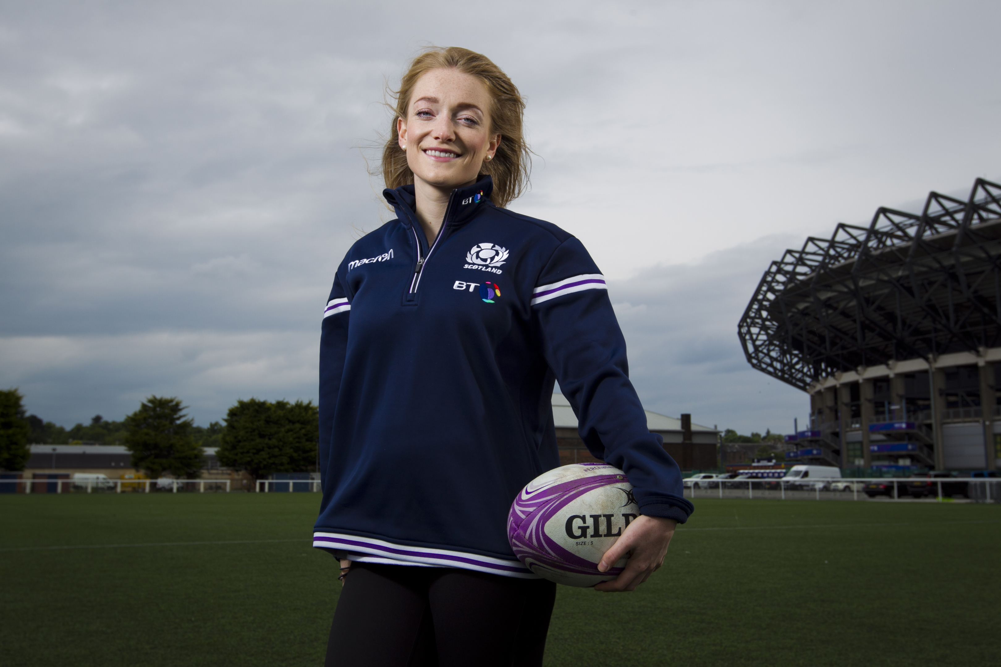 Referee Hollie Davidson at Murrayfield (Andrew Cawley / DC Thomson)