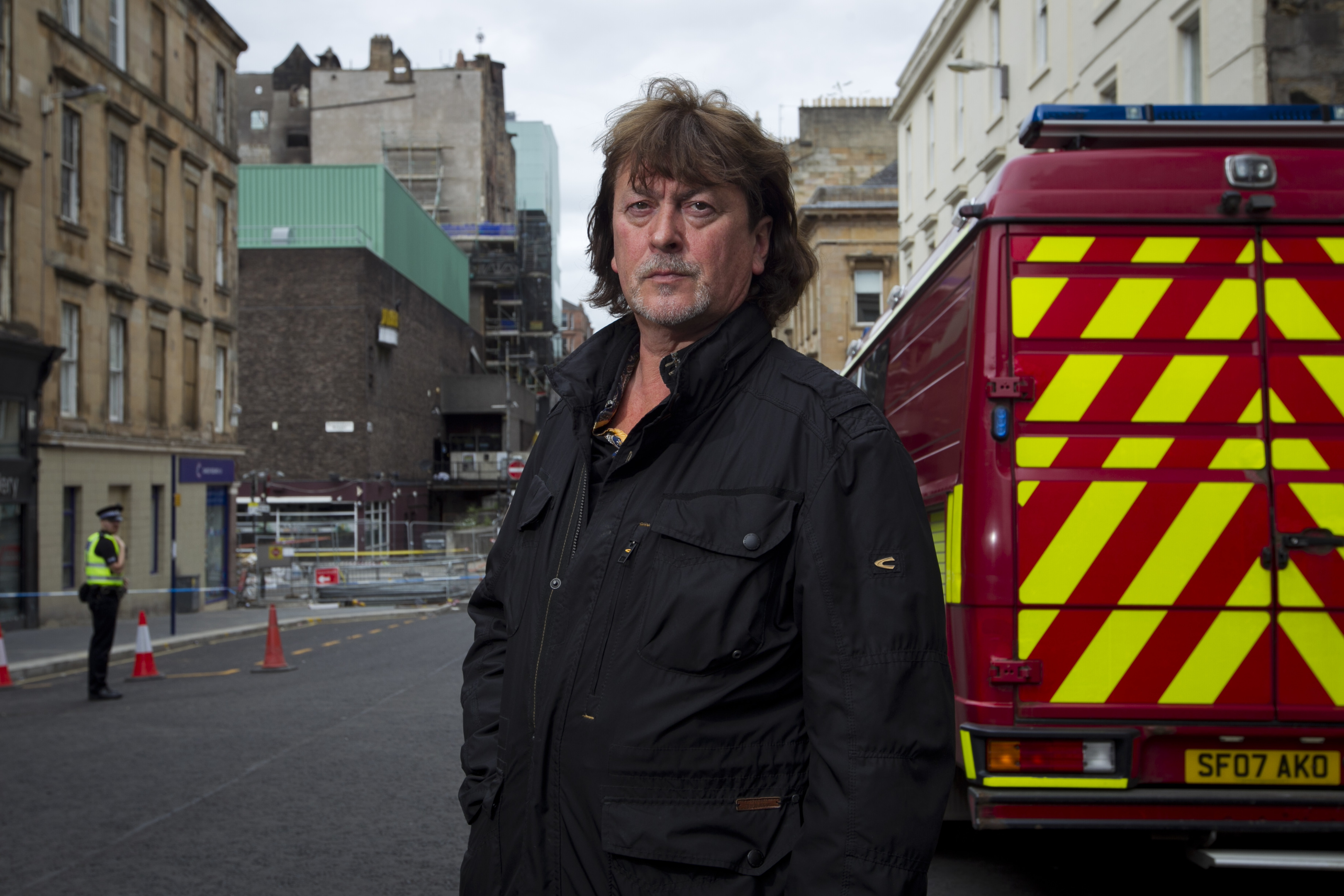 Donald MacLeod visiting the area around the Glasgow School of Art (Andrew Cawley / DC Thomson)