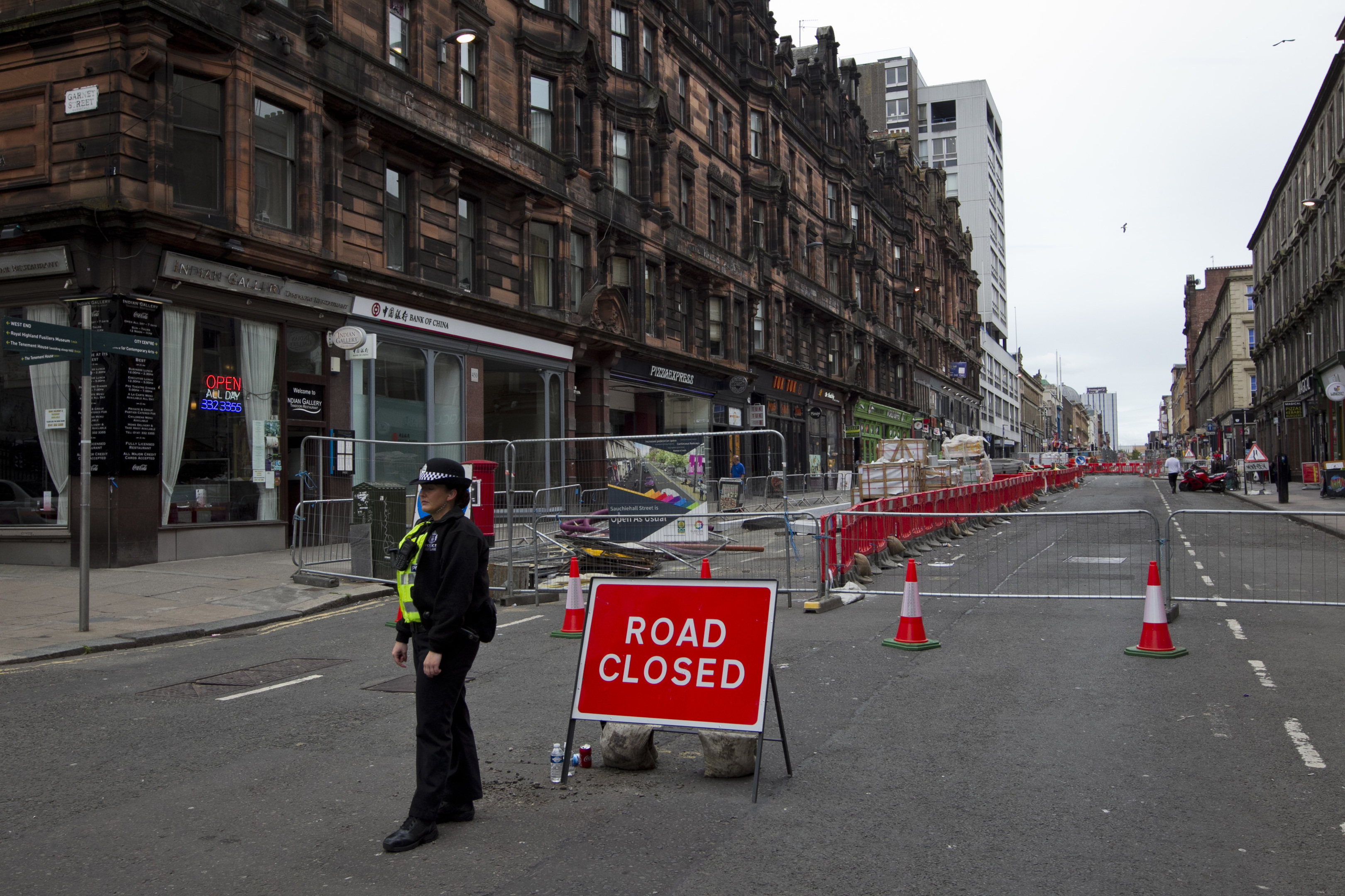 The area around the scene of the fire has been closed off (Andrew Cawley / DC Thomson)