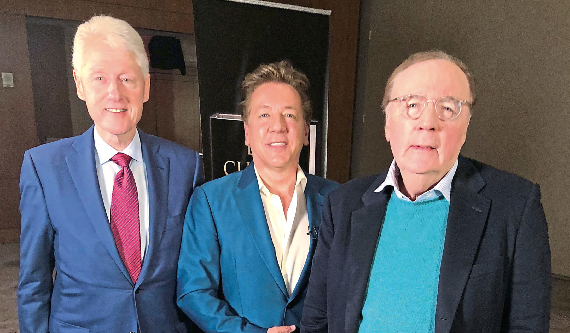 Ross, centre, with Bill Clinton and The President Is Missing co-author James Patterson