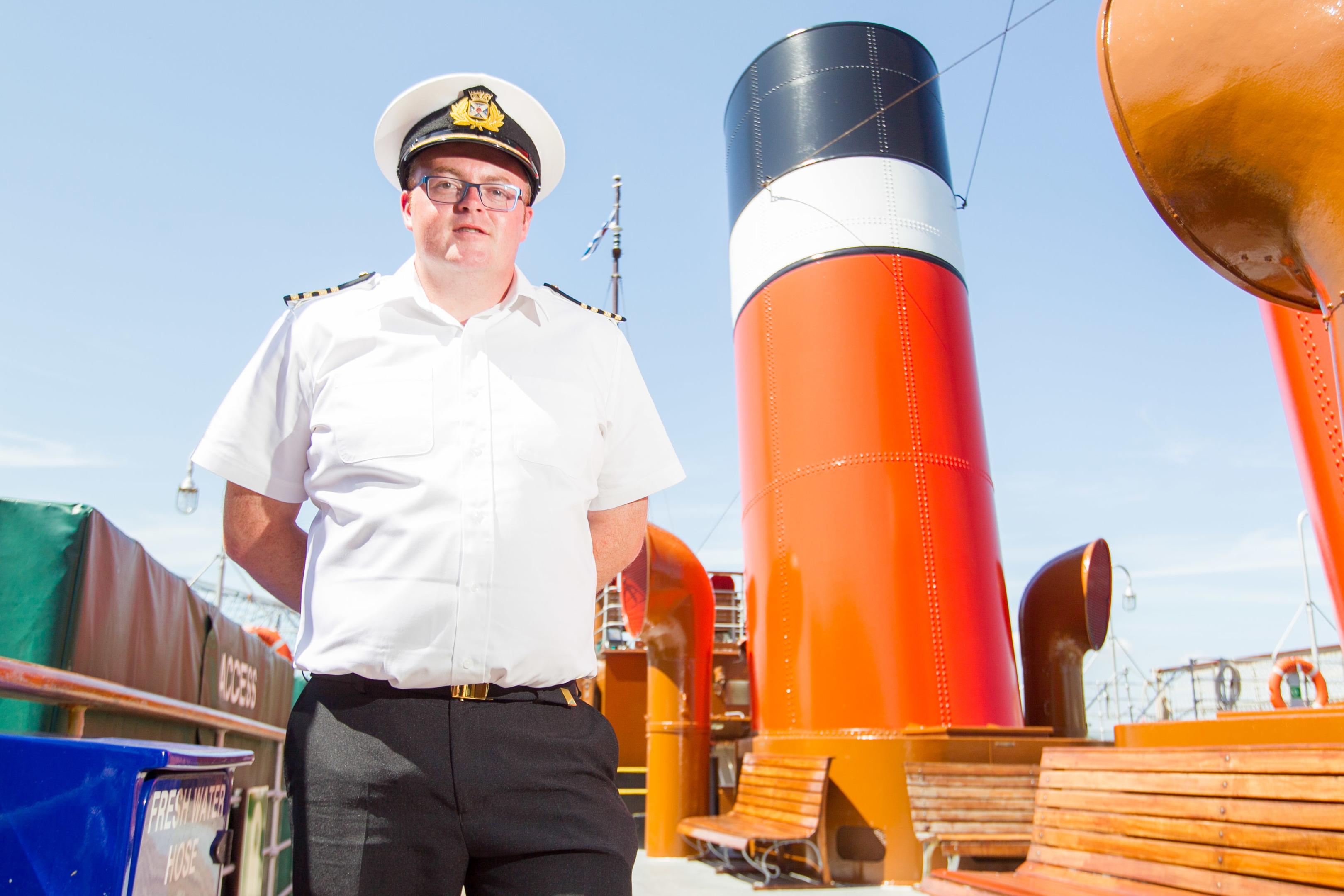 New PS Waverley Master Captain John Simm on board the paddle steamer (Chris Austin / DC Thomson)