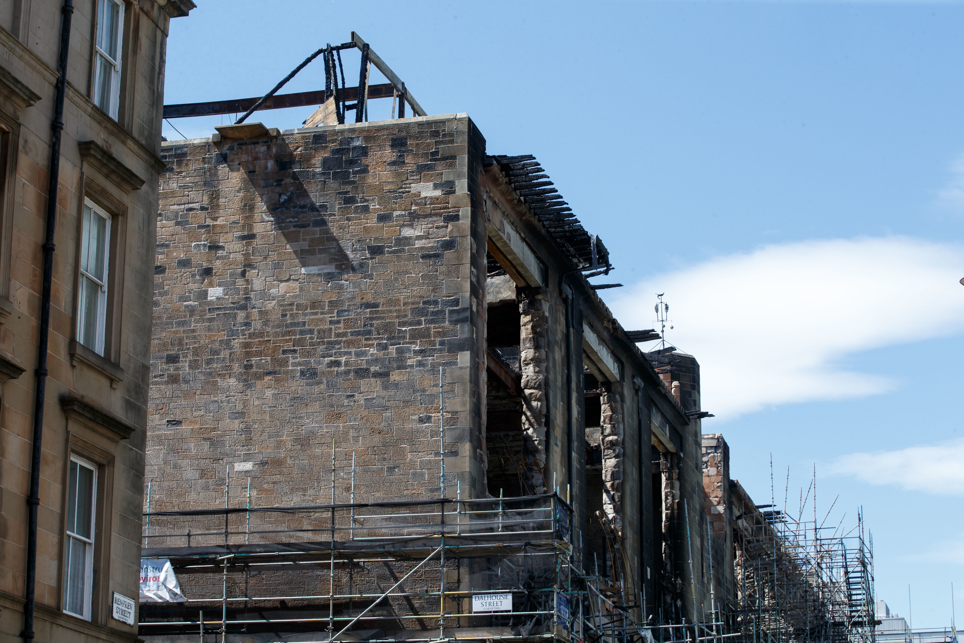 A view of some of the damage to the Mackintosh Building at Glasgow School of Art (Robert Perry/Getty Images)
