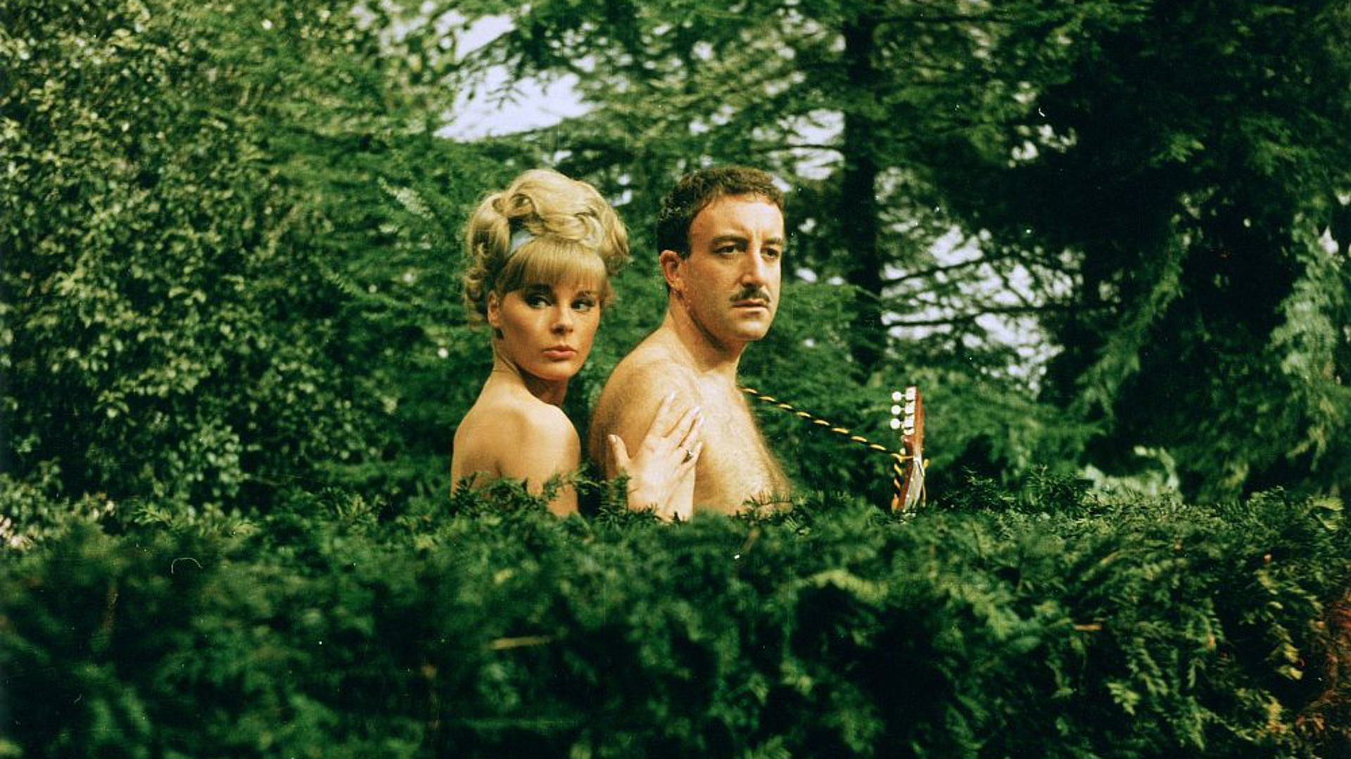 Peter Sellers and Elke Sommer explore a nudist colony in A Shot In The Dark