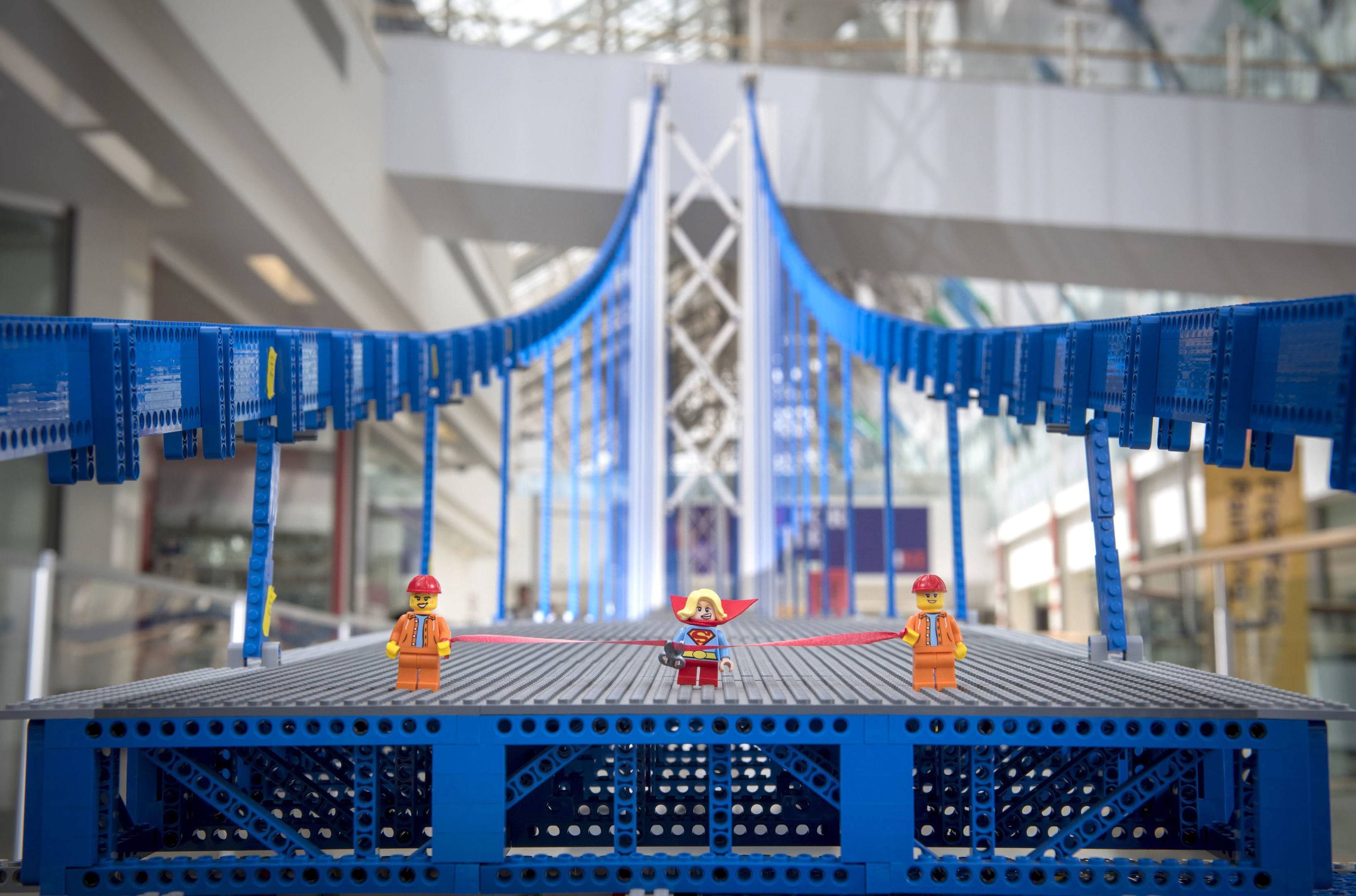 The bridge is made from over 200,000 Lego bricks  (Big Partnership/PA Wire)