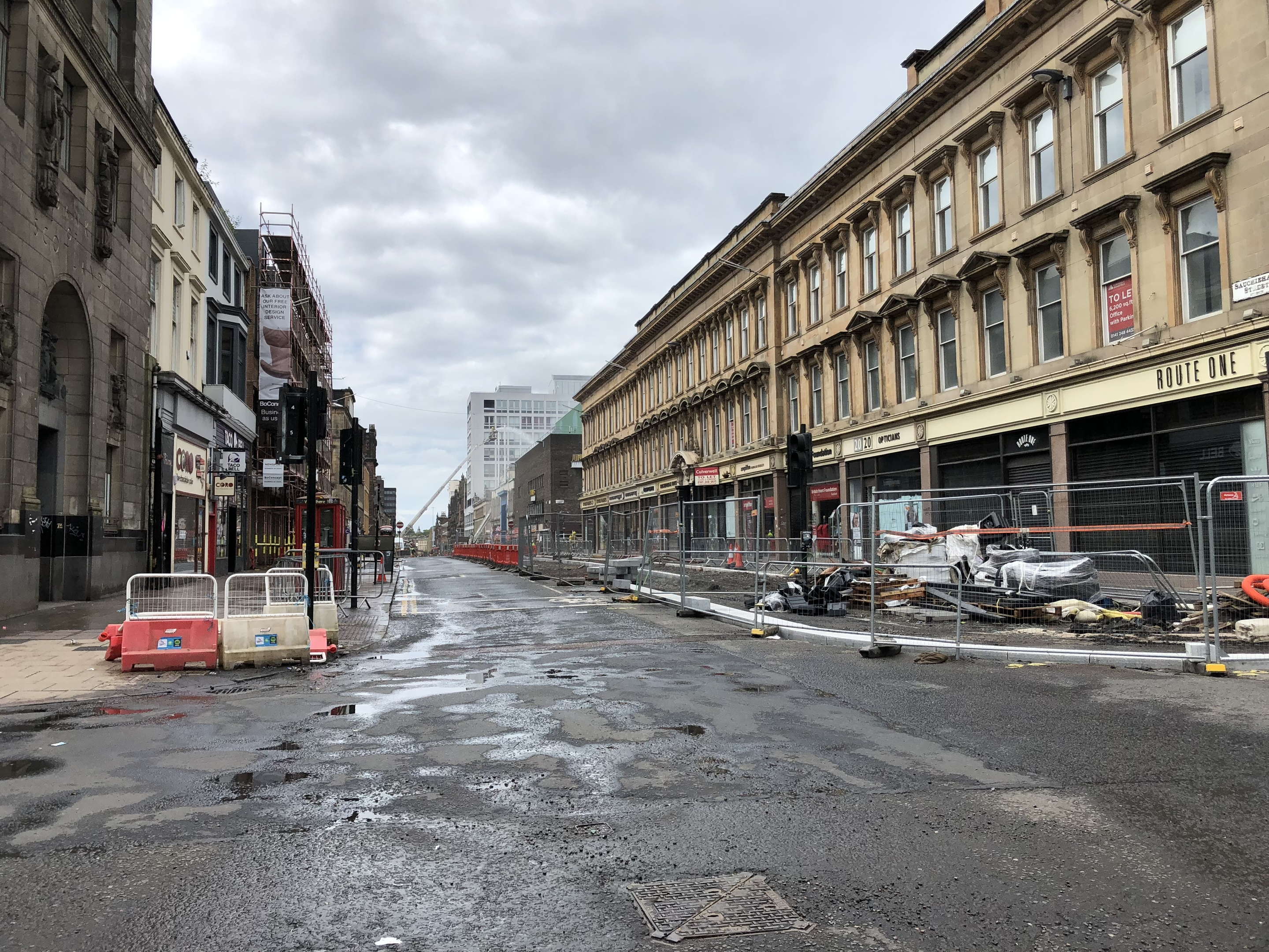 Sauchiehall Street in the aftermath of the fire (Ross Crae / DC Thomson)