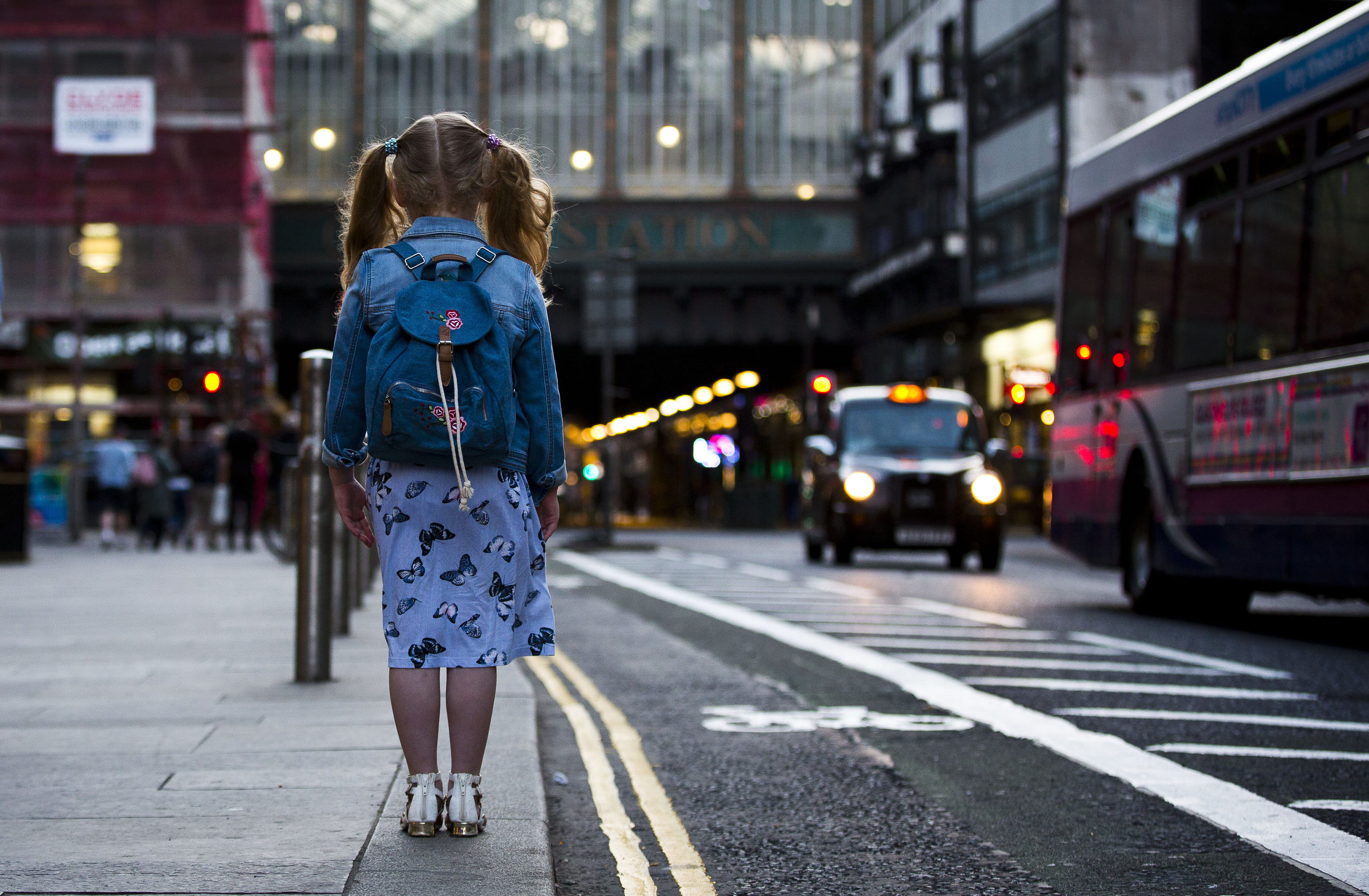 A little girl in Glasgow,  near an area where, as we told last week, some teenagers are exploited after blighted childhoods (Pic: Jamie Williamson)