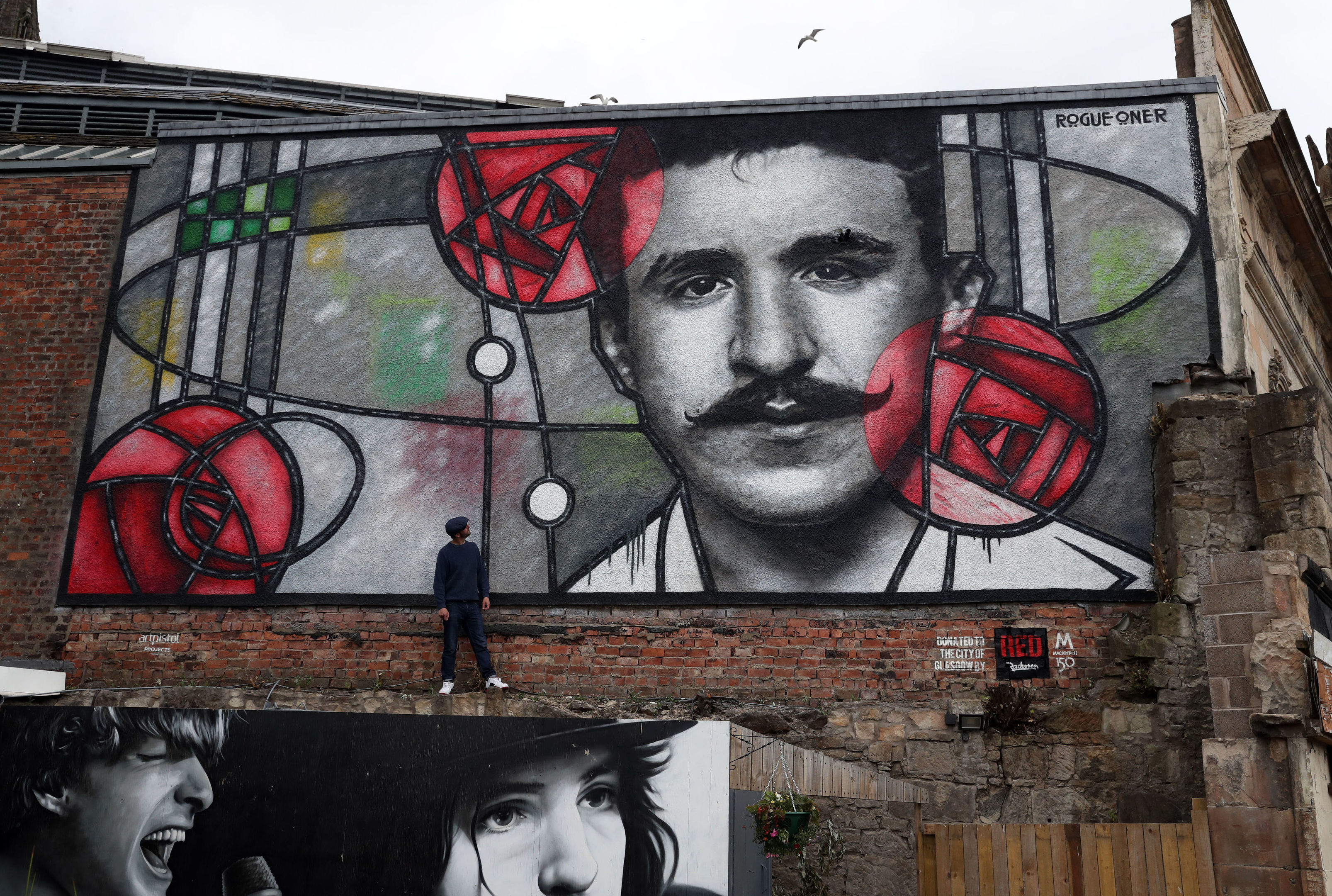 The giant Mackintosh mural (Andrew Milligan/PA Wire)