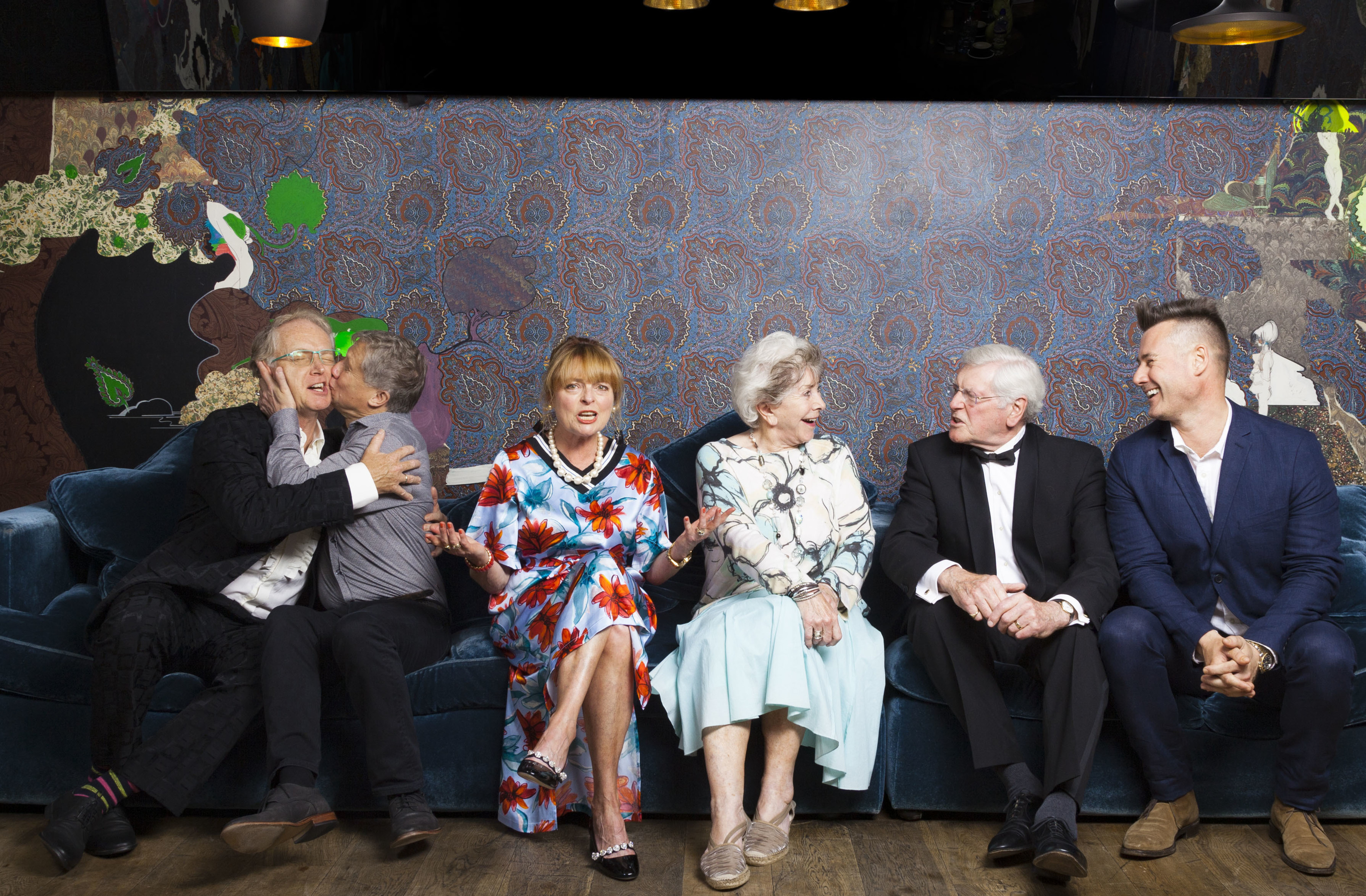 Former Blue Peter presenters (left to right) Mark Curry, Peter Duncan, Janet Ellis, Valerie Singleton, Peter Purves and Tim Vincent (Nick Rutter/PA Wire)
