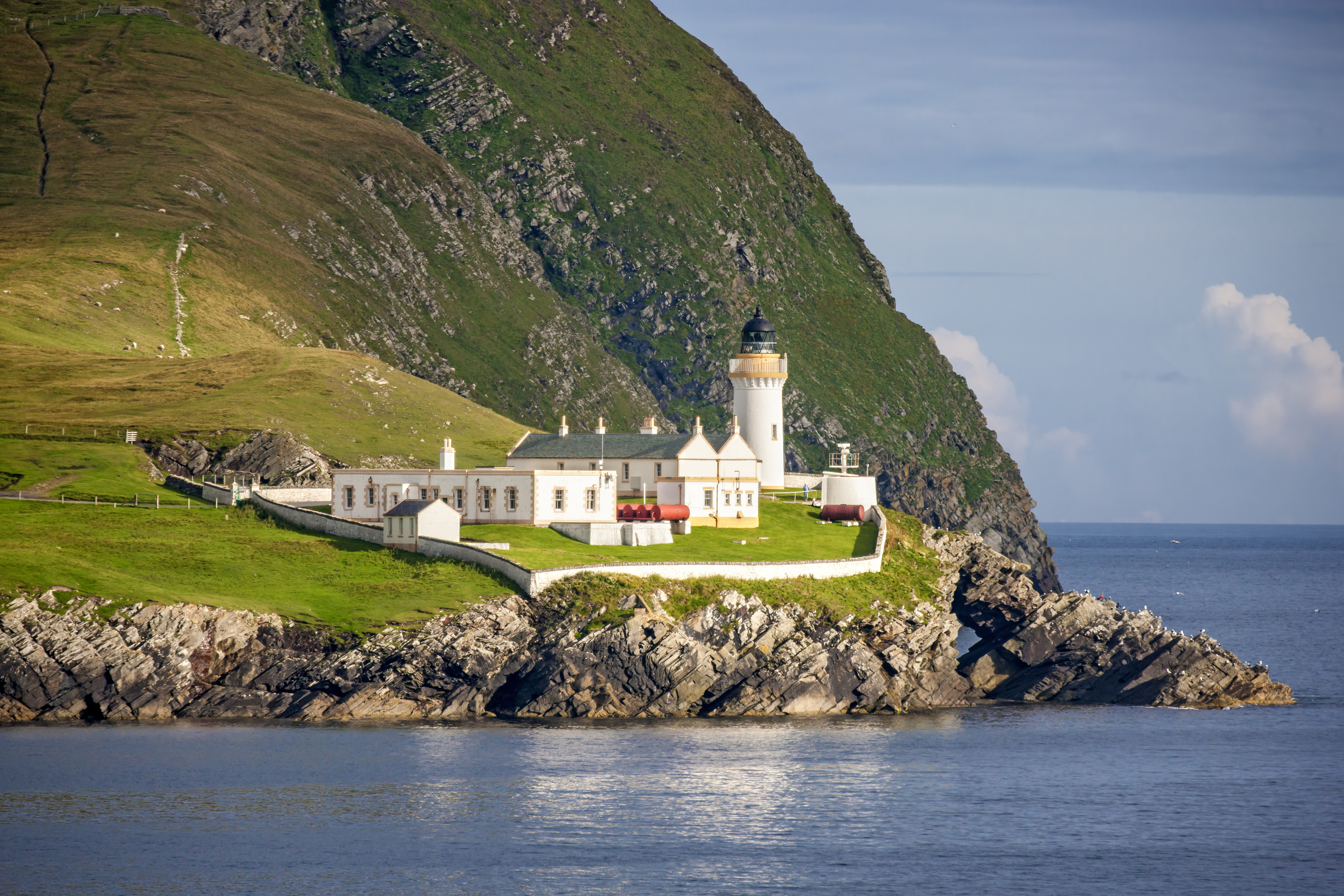 Beautiful lighthouse and buildings on the island of Bressay (Getty Images)