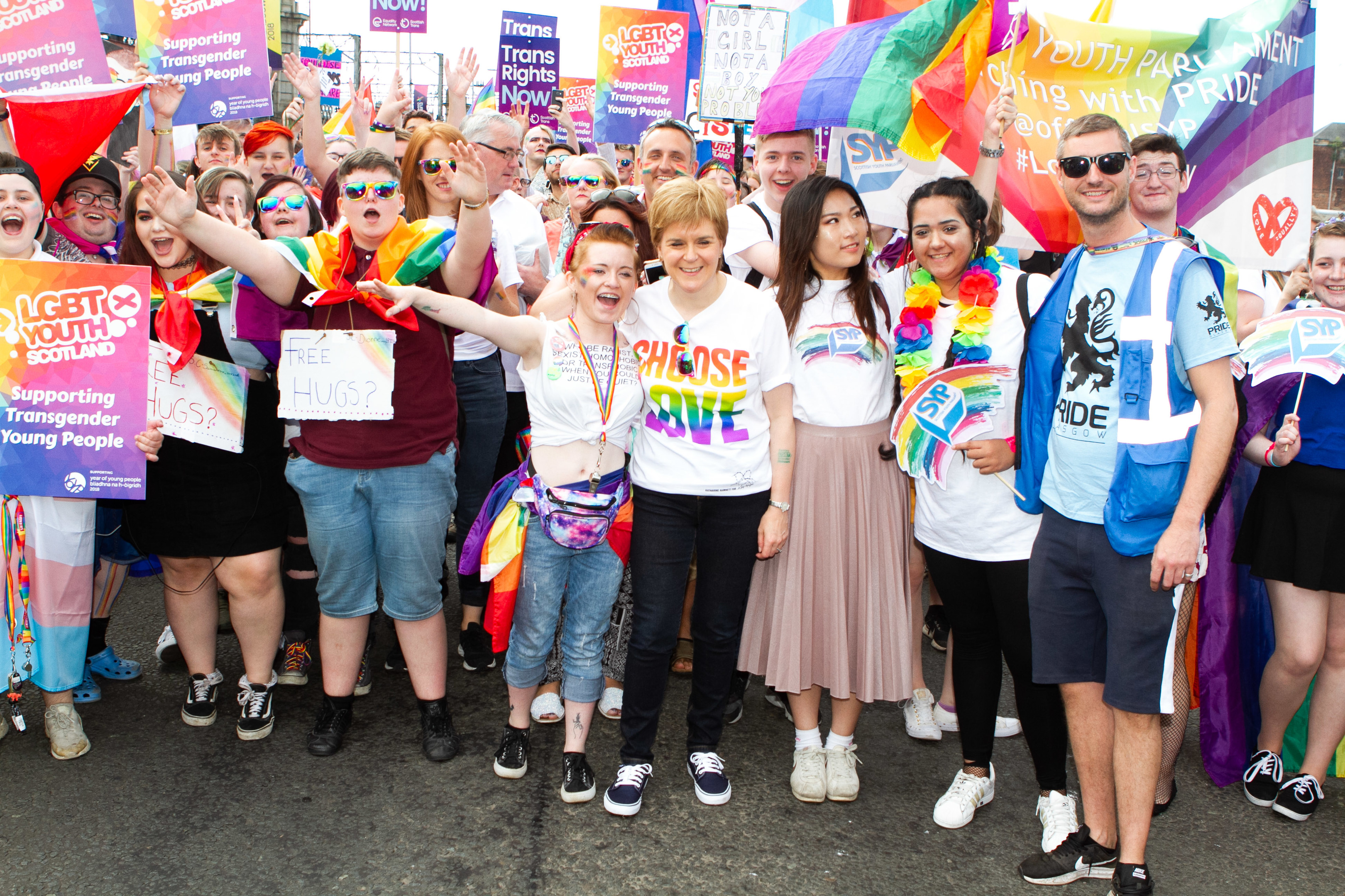 Nicola Sturgeon leads the Pride parade (Chris Austin / DC Thomson)
