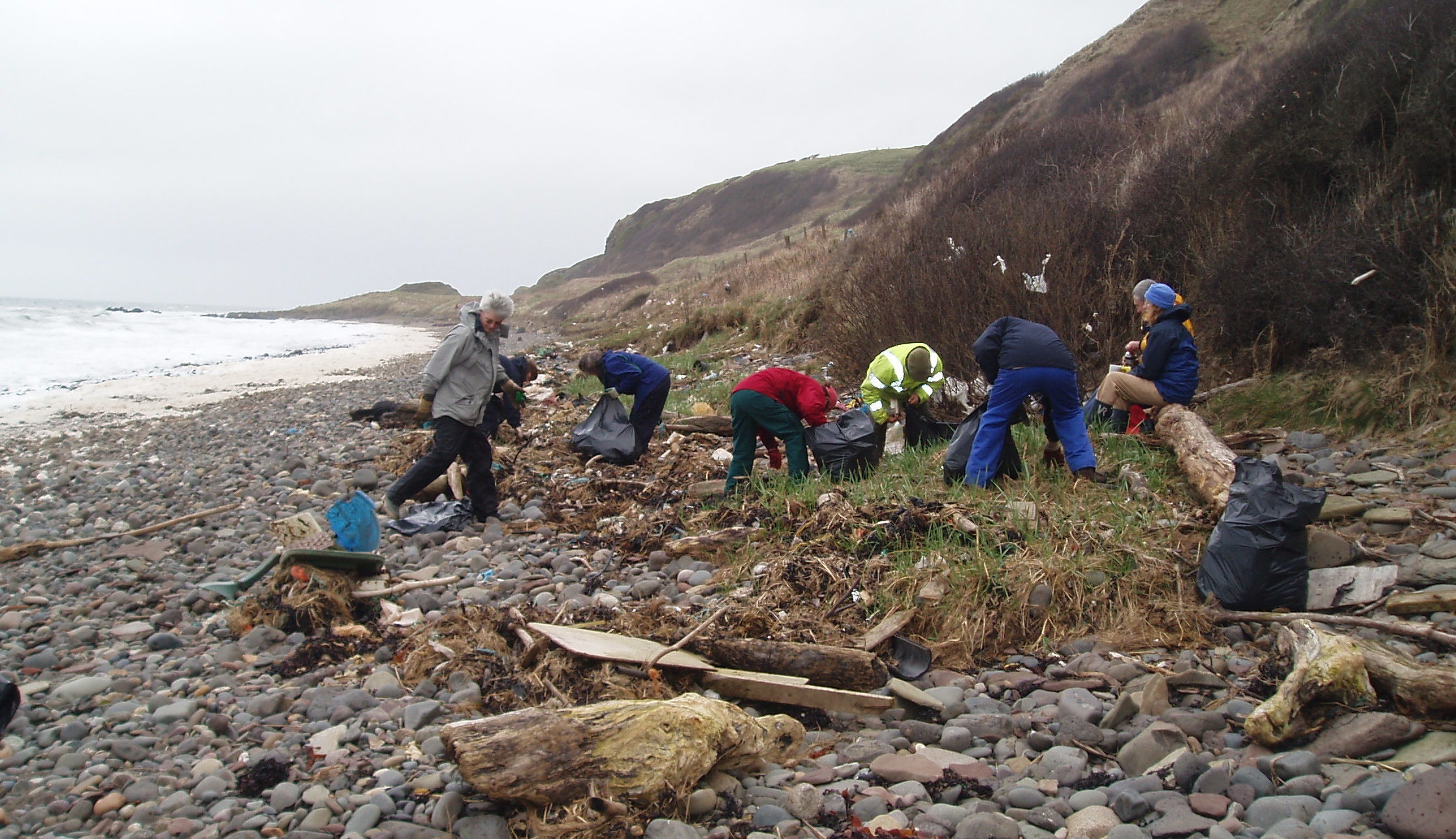 Volunteers are currently the only people who clean up Ayrshire's wild beaches
