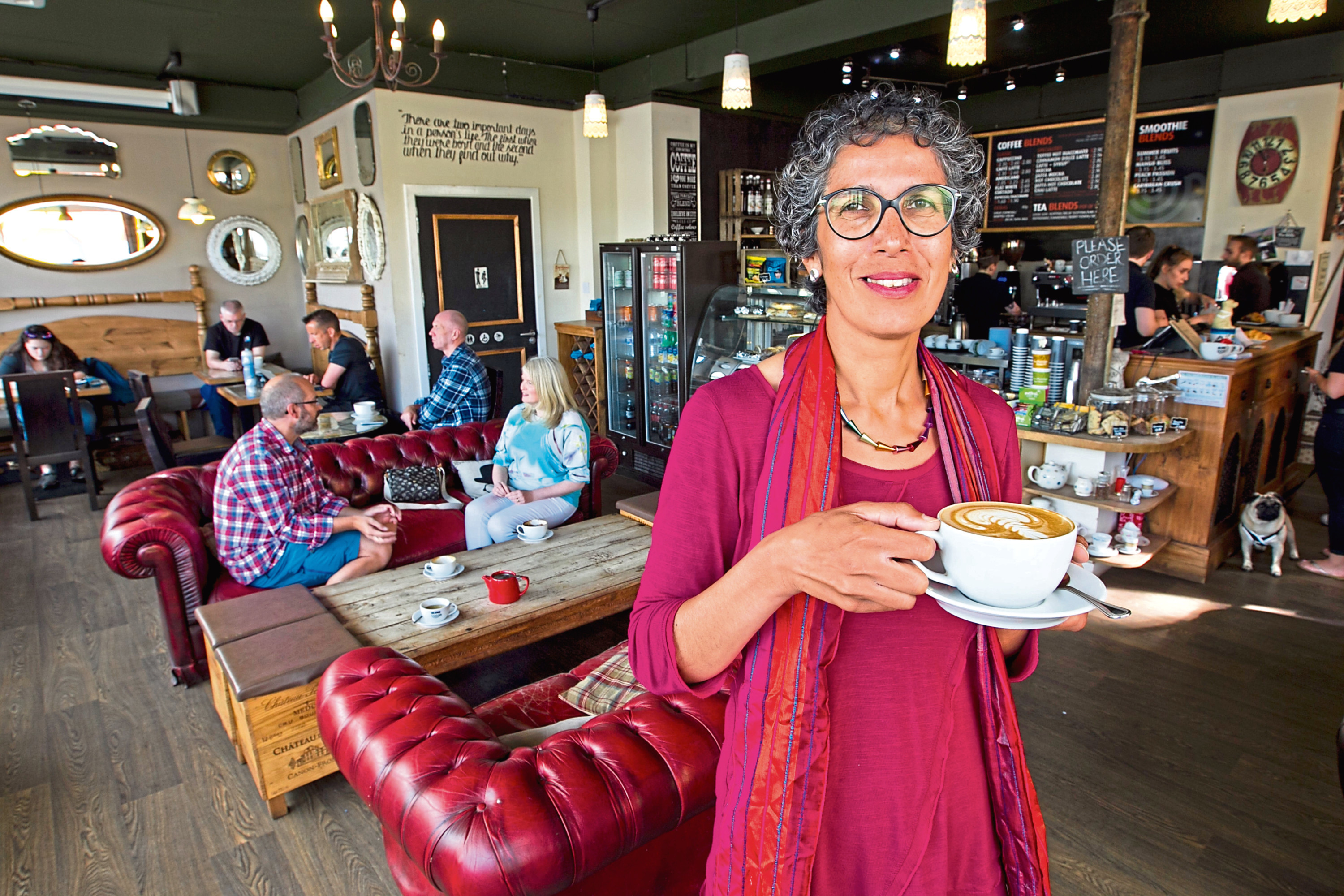 "A group of people who have set up a ""Menopause Cafe"", held at Blend Coffeshop in Perth. At the cafe they can talk and support each other with Menopause issues. (Andrew Cawley)"