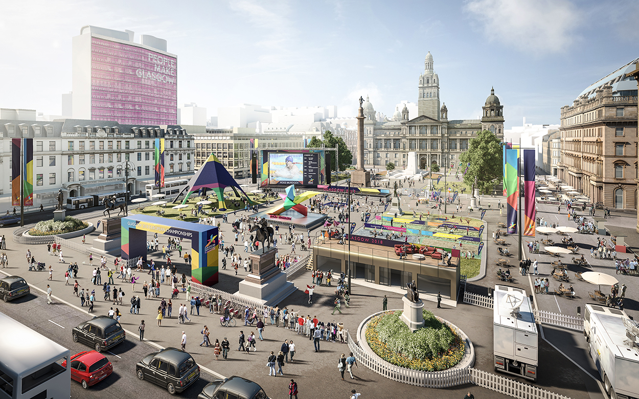 European Championships will take place in George Square this summer