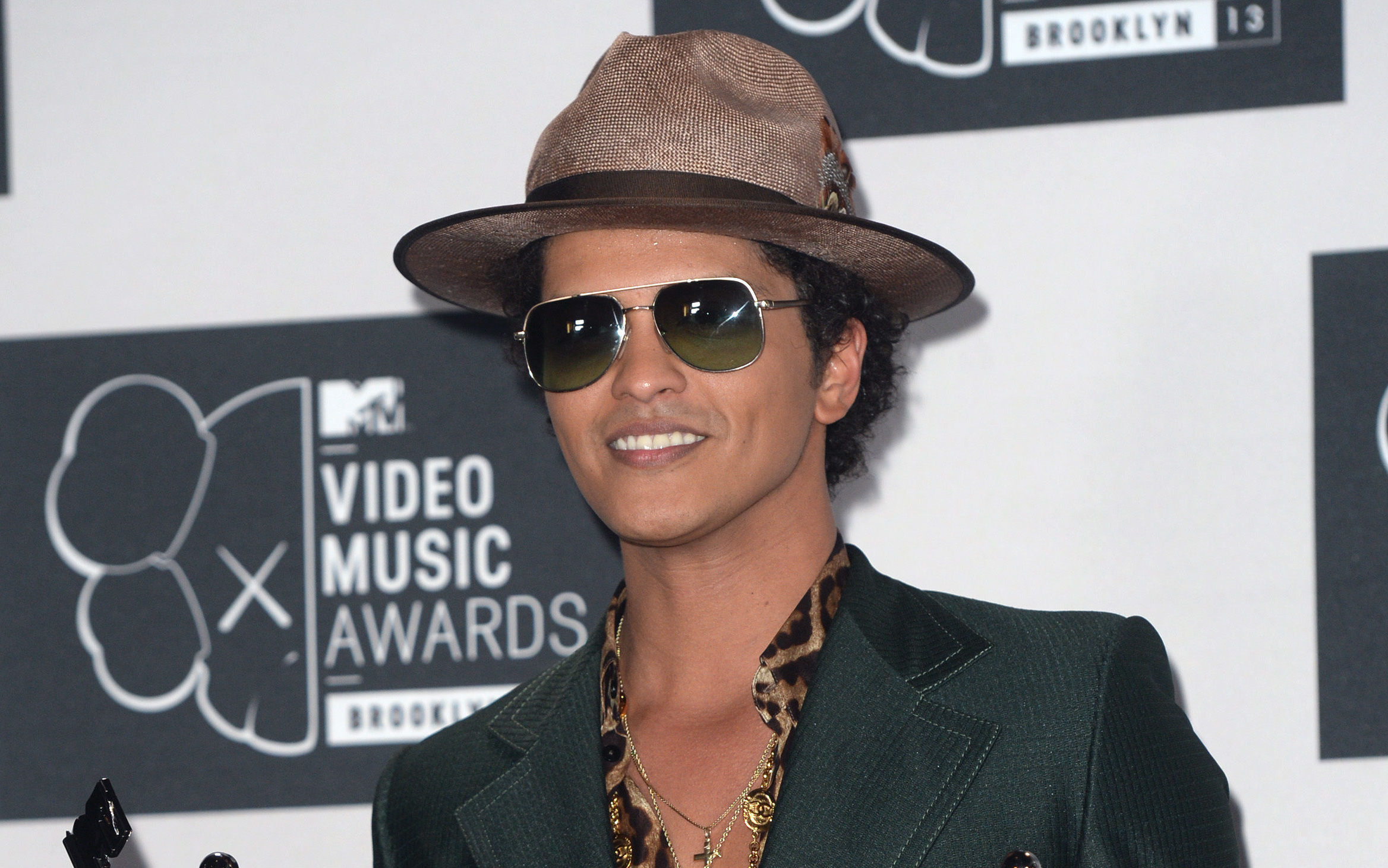 Bruno Mars was forced to leave the stage following a fire scare during a concert in Glasgow (Doug Peters/PA Wire)