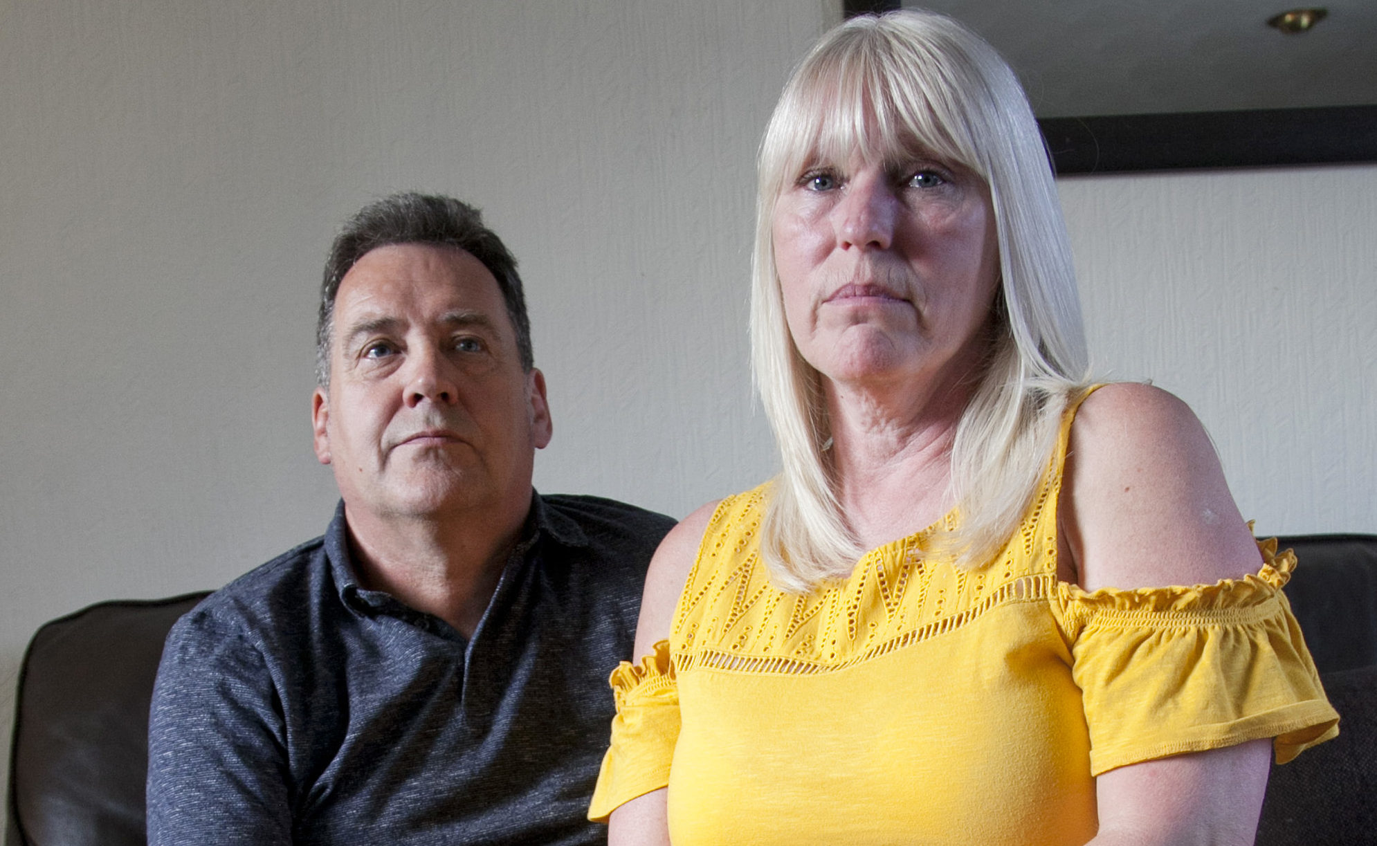 Brian and Denise Currie whose daughter, Kirsty, died in Benidorm last year (Alistair Linford)