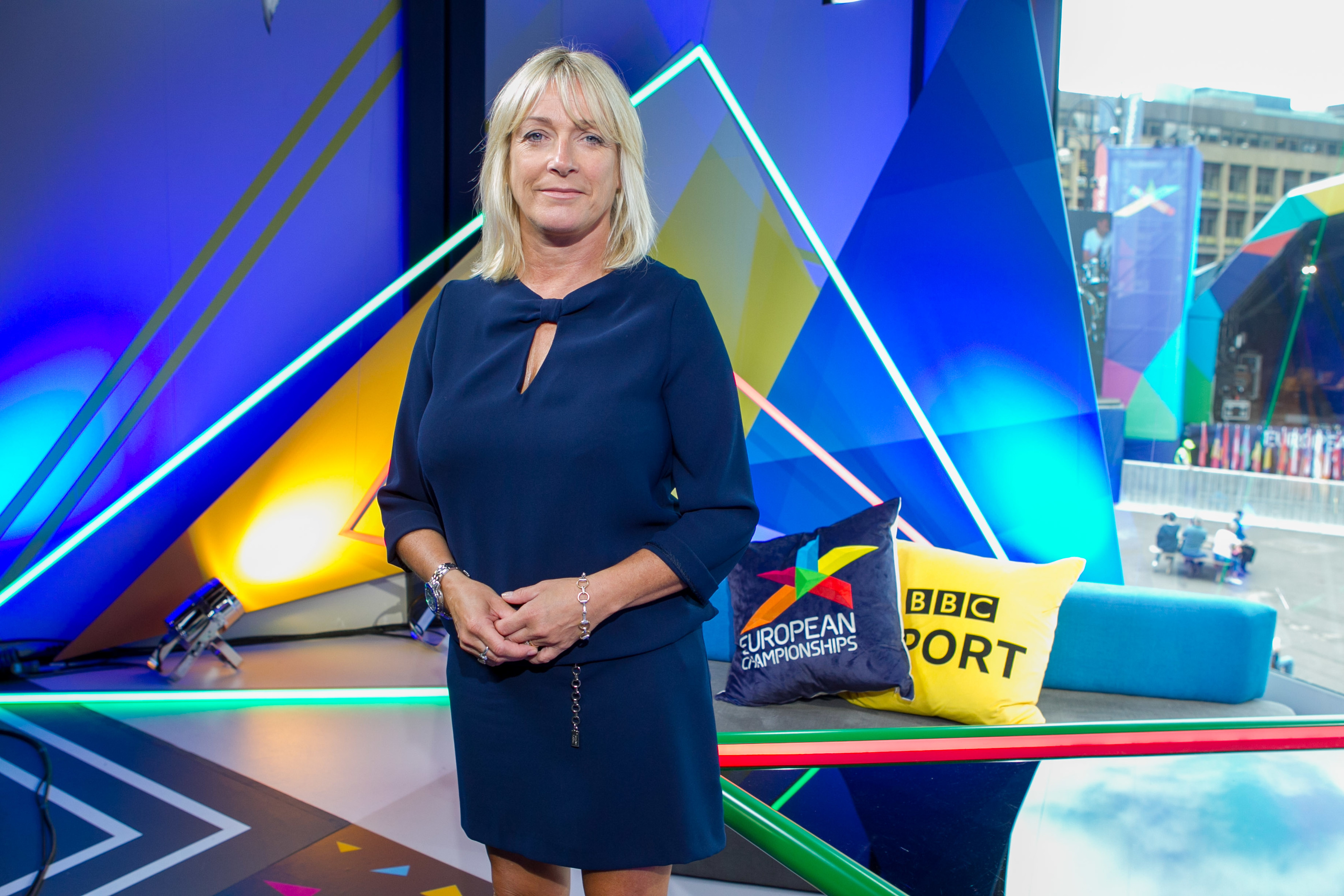 BBC Presenter Jill Douglas in the Glasgow studio (Chris Austin / DC Thomson)