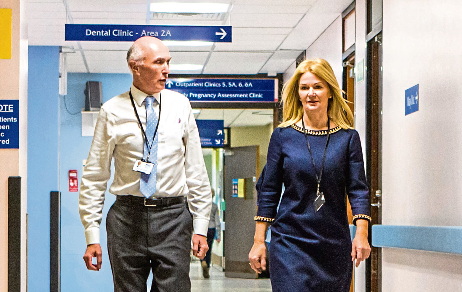 Professor John Connell and Lesley McLay - both have now left NHS Tayside (Steve MacDougall / DC Thomson)