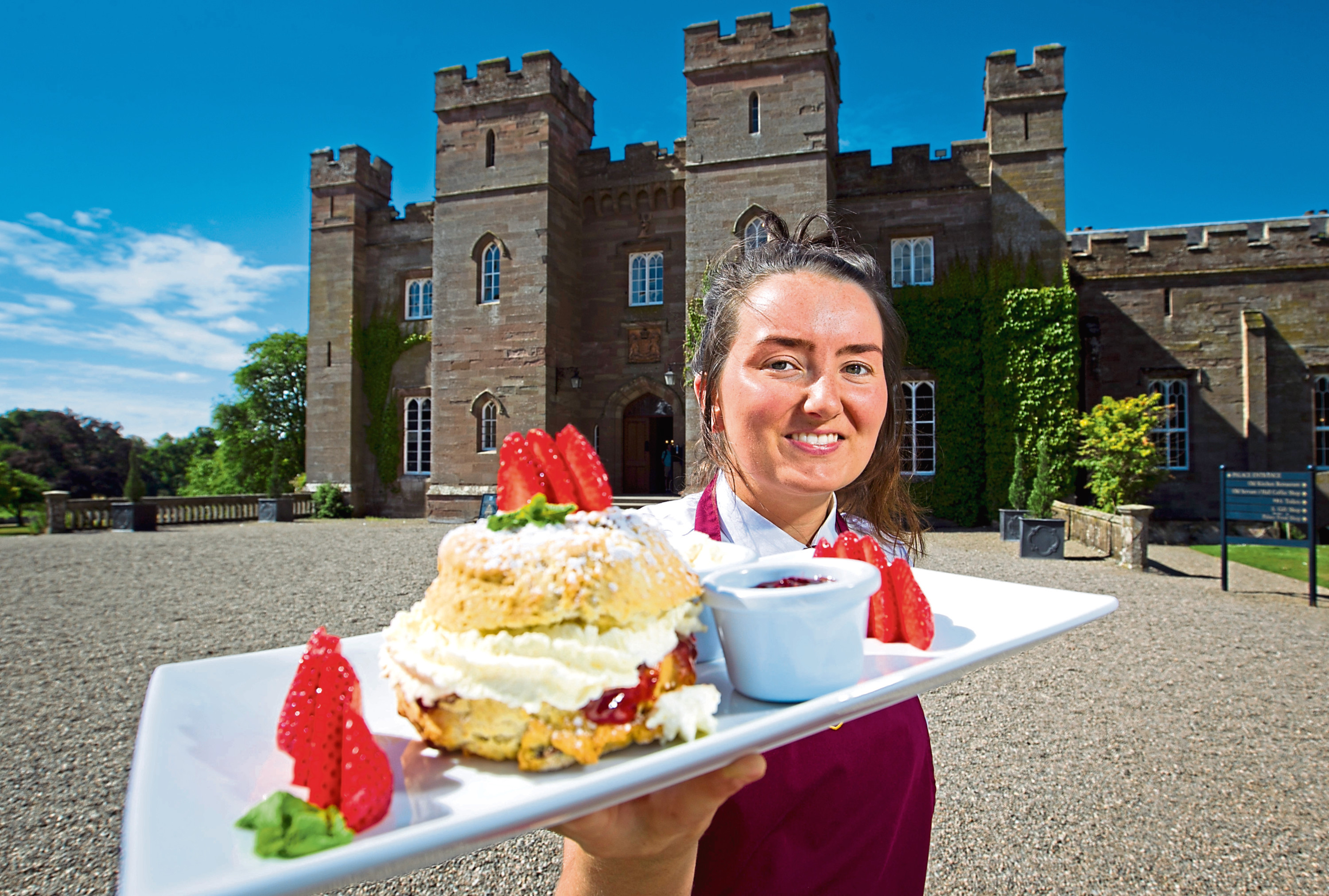 Servants Hall cafe waitress Hayley outside Scone Palace (Andrew Cawley / DC Thomson)