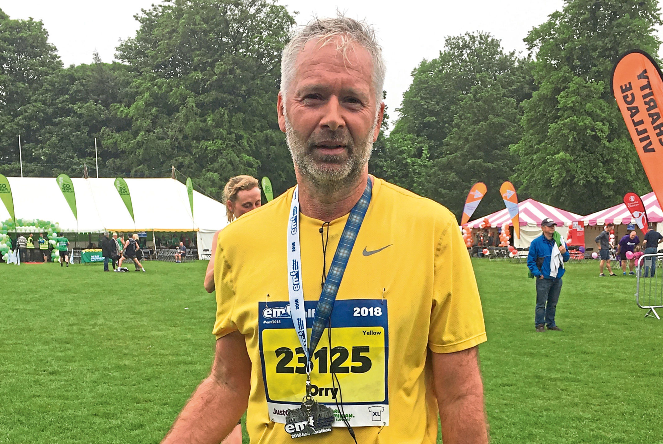 Retired pipe fitter Orry Nowosad after the Edinburgh Half Marathon