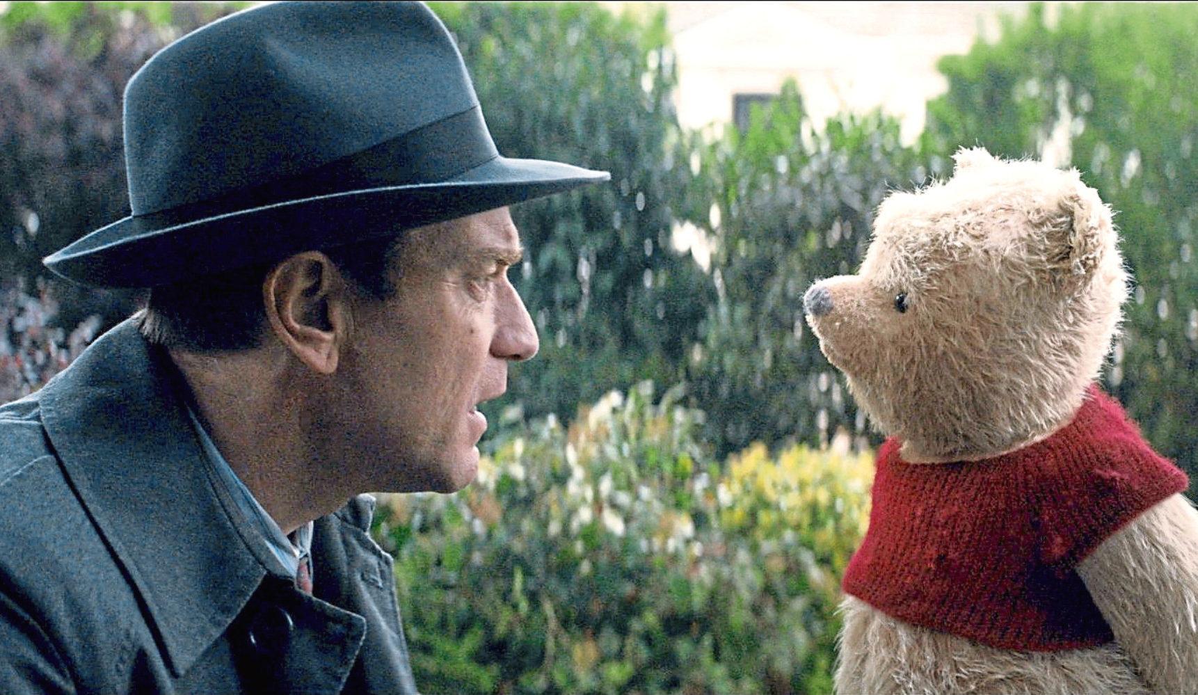 Ewan McGregor as Christopher Robin alongside Winnie the Pooh (Allstar/DISNEY)