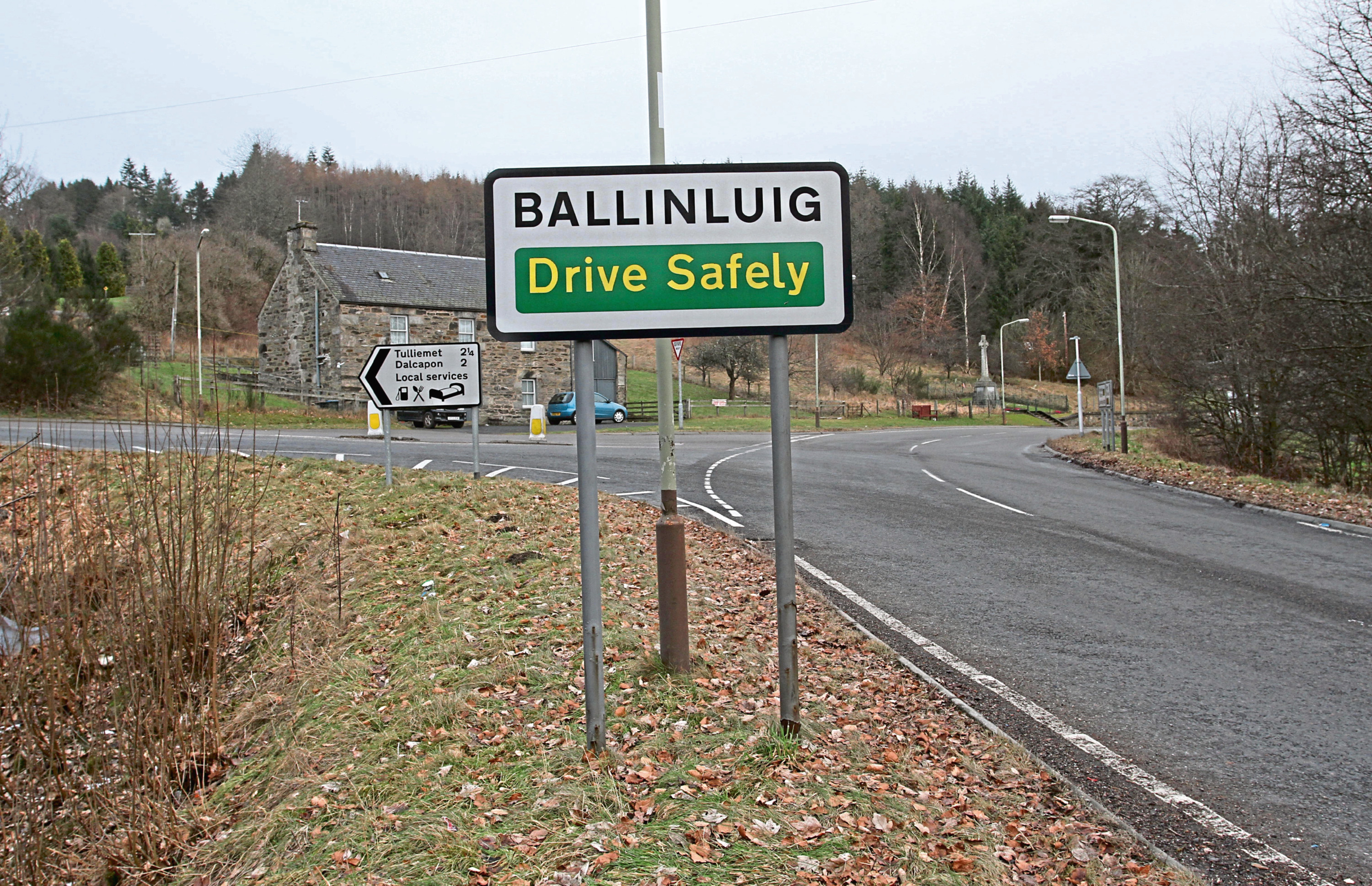 The accident happened near Ballinluig