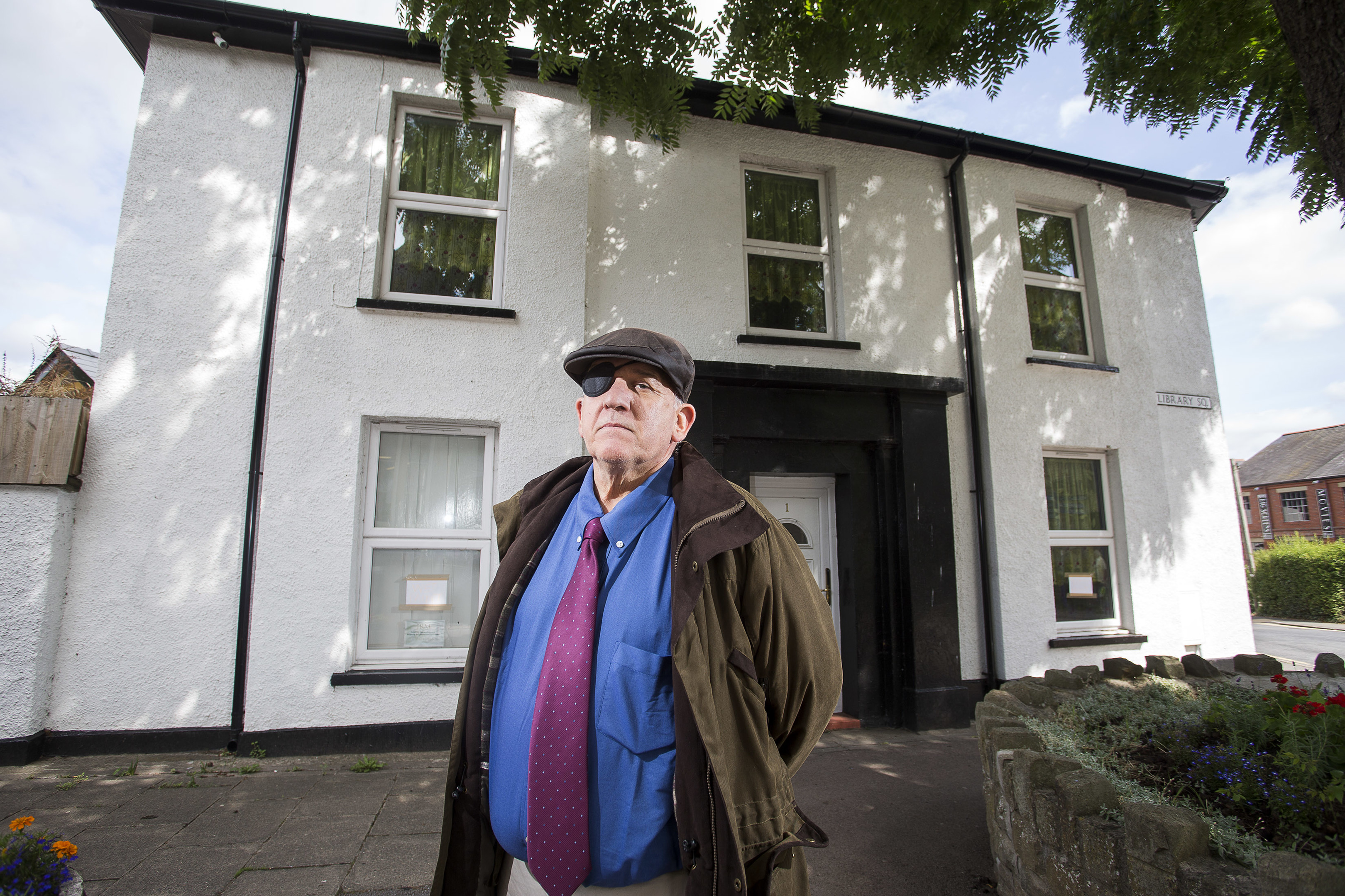 Irvine Gibson's home was damaged by fire with his medals destroyed (Chris Fairweather/Huw Evans)