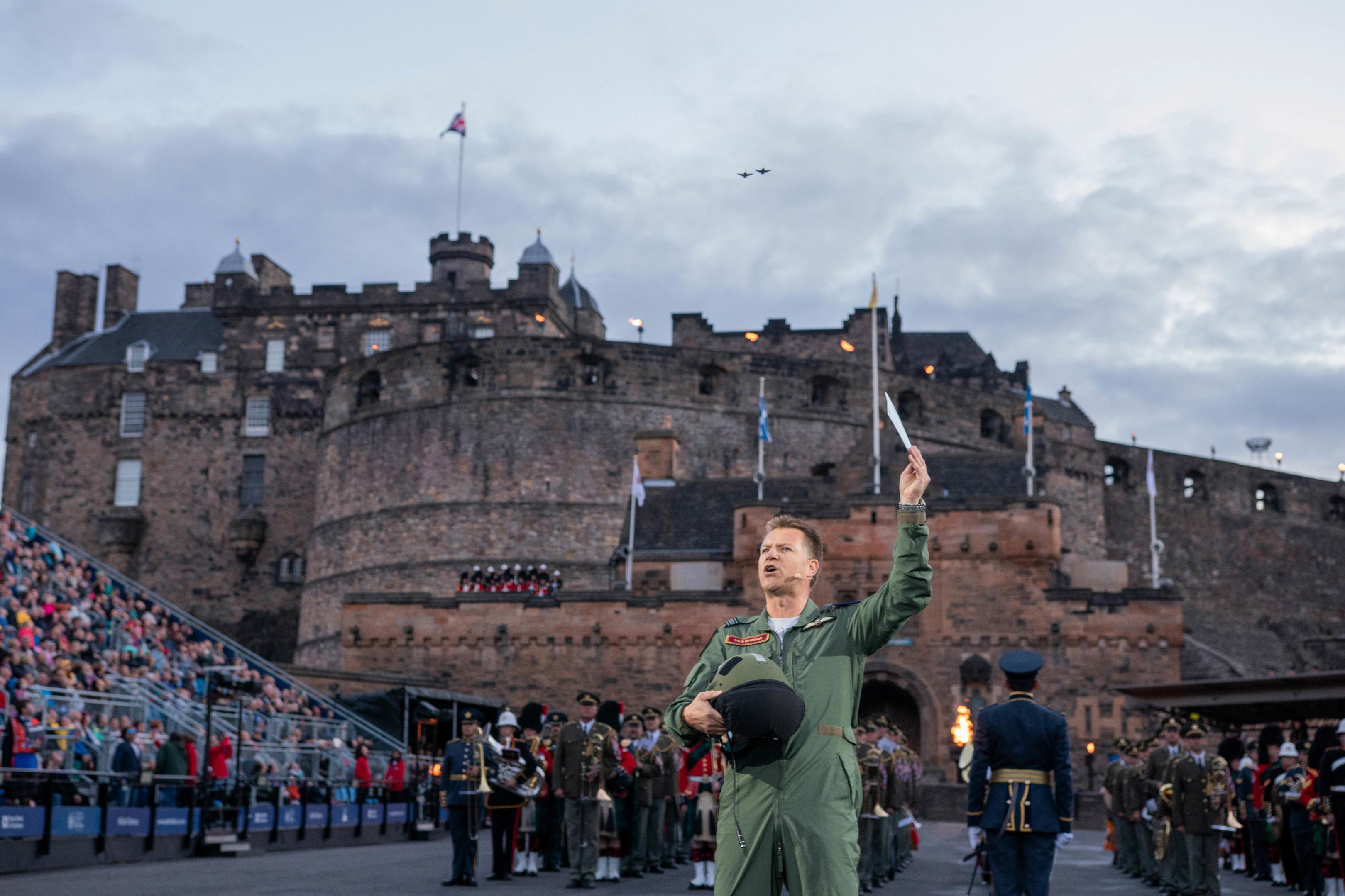Colin recites the poem (The Royal Edinburgh Military Tattoo)