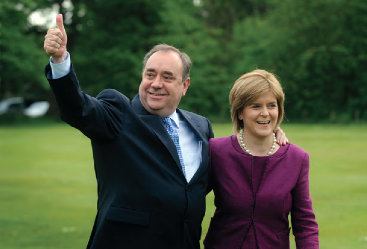 Nicola Sturgeon with Alex Salmond