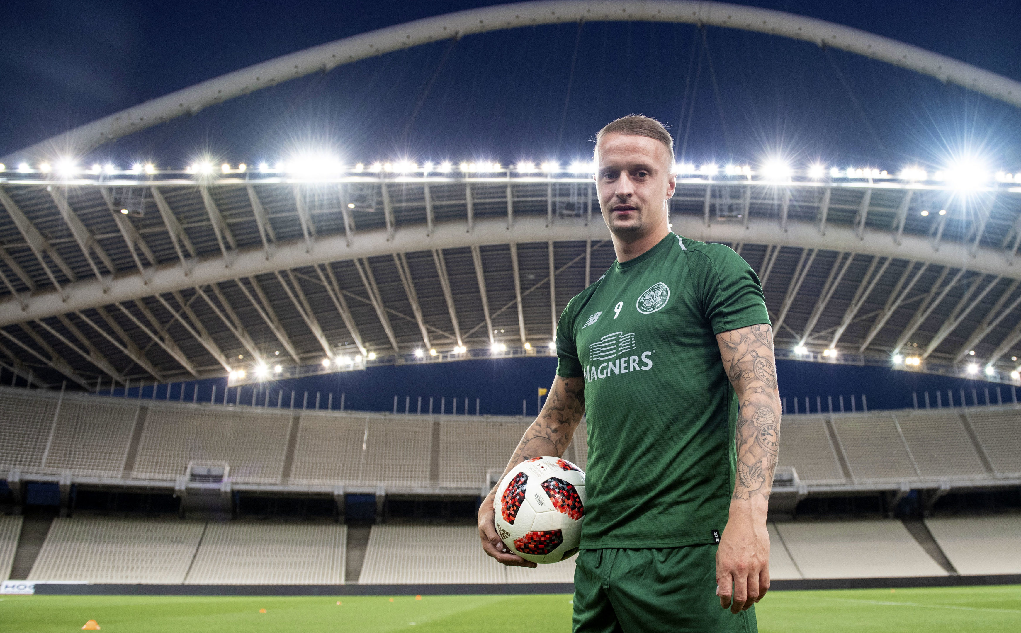 Celtic's Leigh Griffiths looks ahead to his side's second leg against AEK Athens (SNS Group / Craig Williamson)