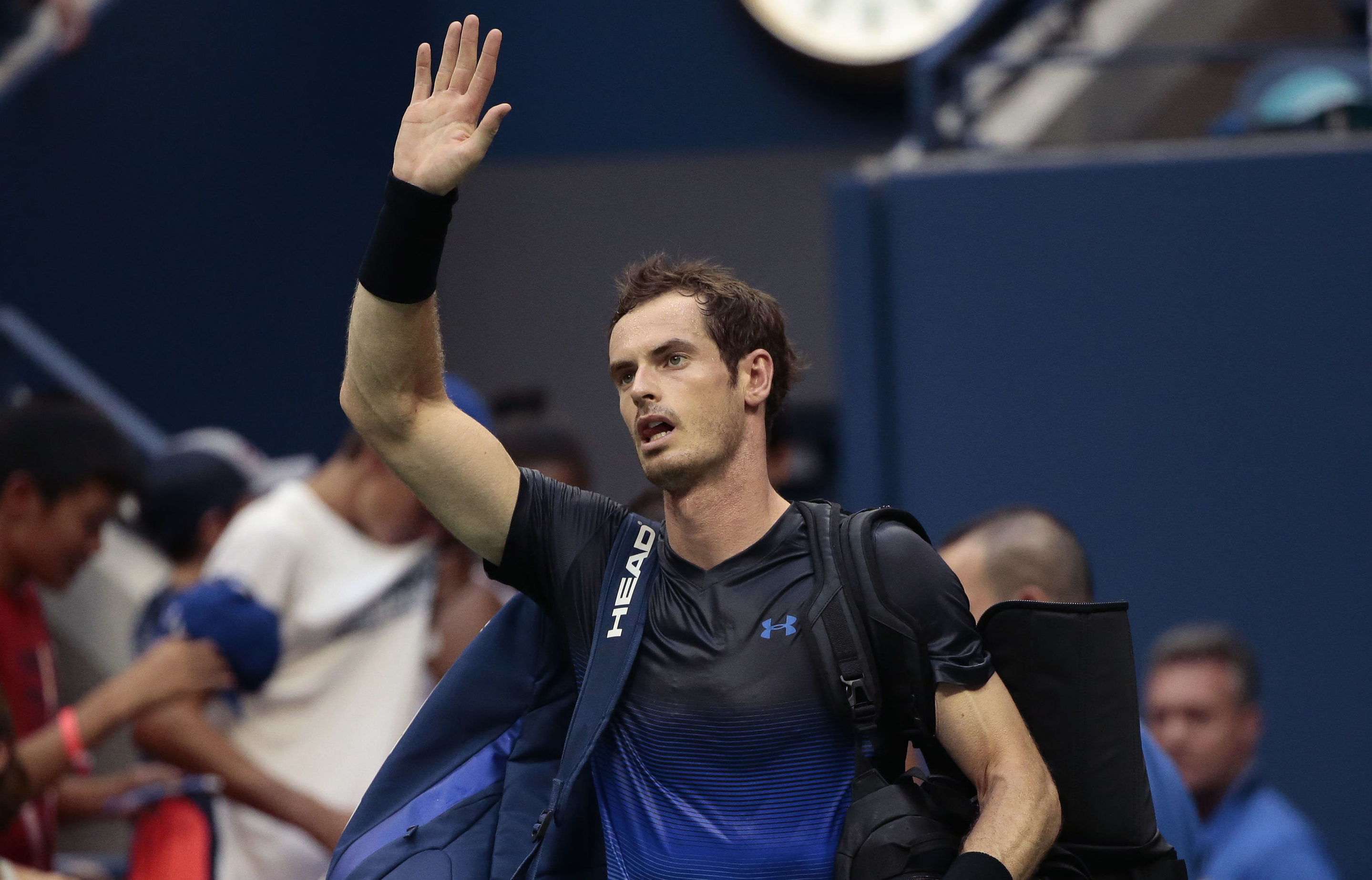 Andy Murray comes off court in New York (AP Photo/Andres Kudacki)